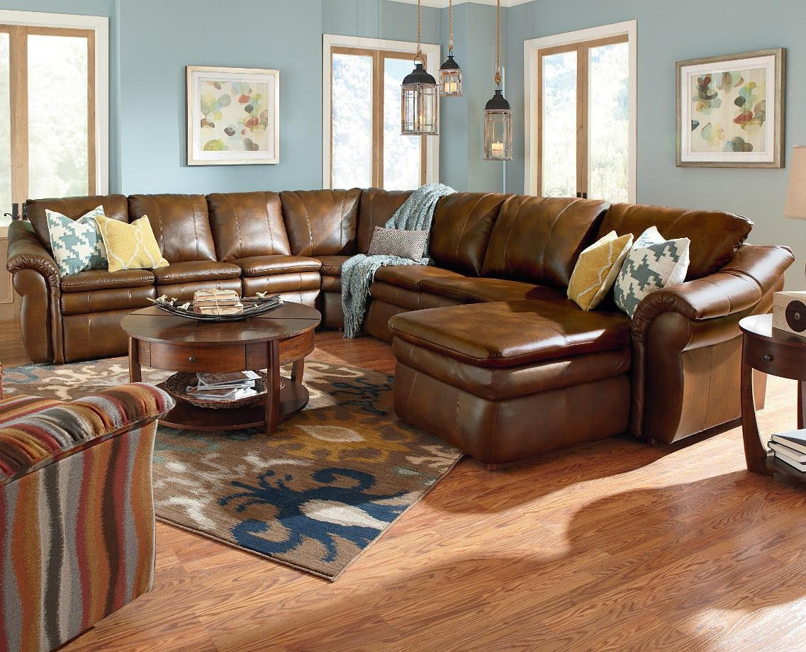 Furniture: Lazyboy Sectional With Cool Various Designs And Colors Intended For Lazy Boy Leather Sectional (View 4 of 20)