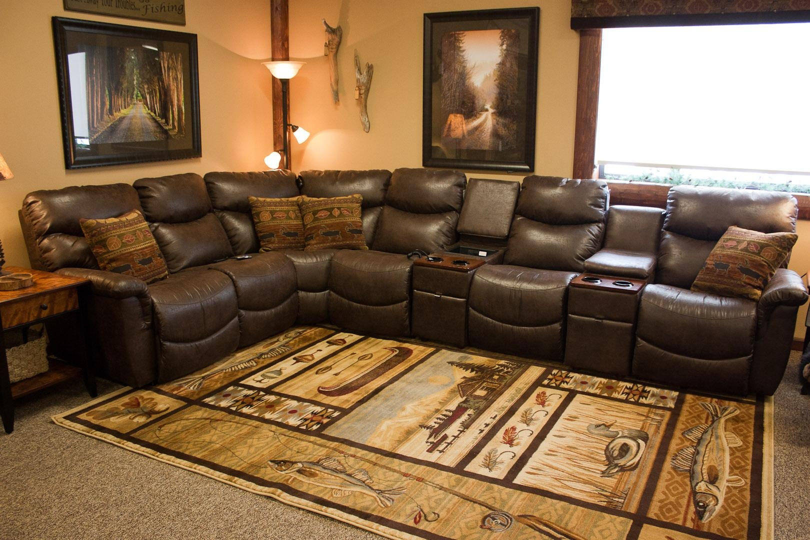 Furniture: Lazyboy Sectional With Cool Various Designs And Colors Within Lazy Boy Leather Sectional (Image 13 of 20)