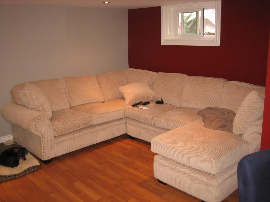 Furniture: Leather Sectional With Chaise | Oversized Sectional Regarding Craftsman Sectional Sofa (View 3 of 15)