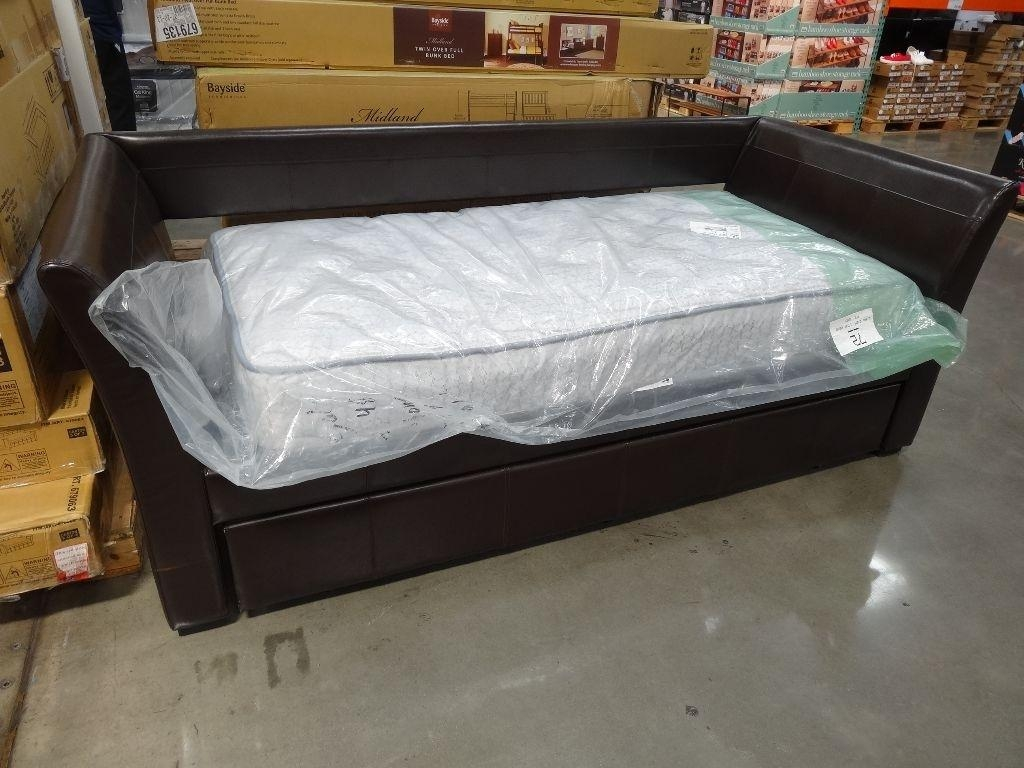 Furniture: Leather Sofa Beds Costco | Costco Sofa Bed | Sectional Pertaining To Sofa Beds With Trundle (Image 12 of 20)
