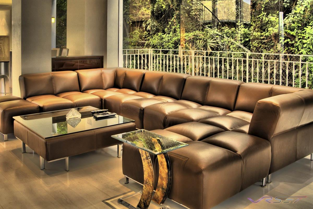 Furniture: Leather Sofa With Chaise | Extra Large Sectional Sofa With Large Leather Sectional (Image 10 of 20)