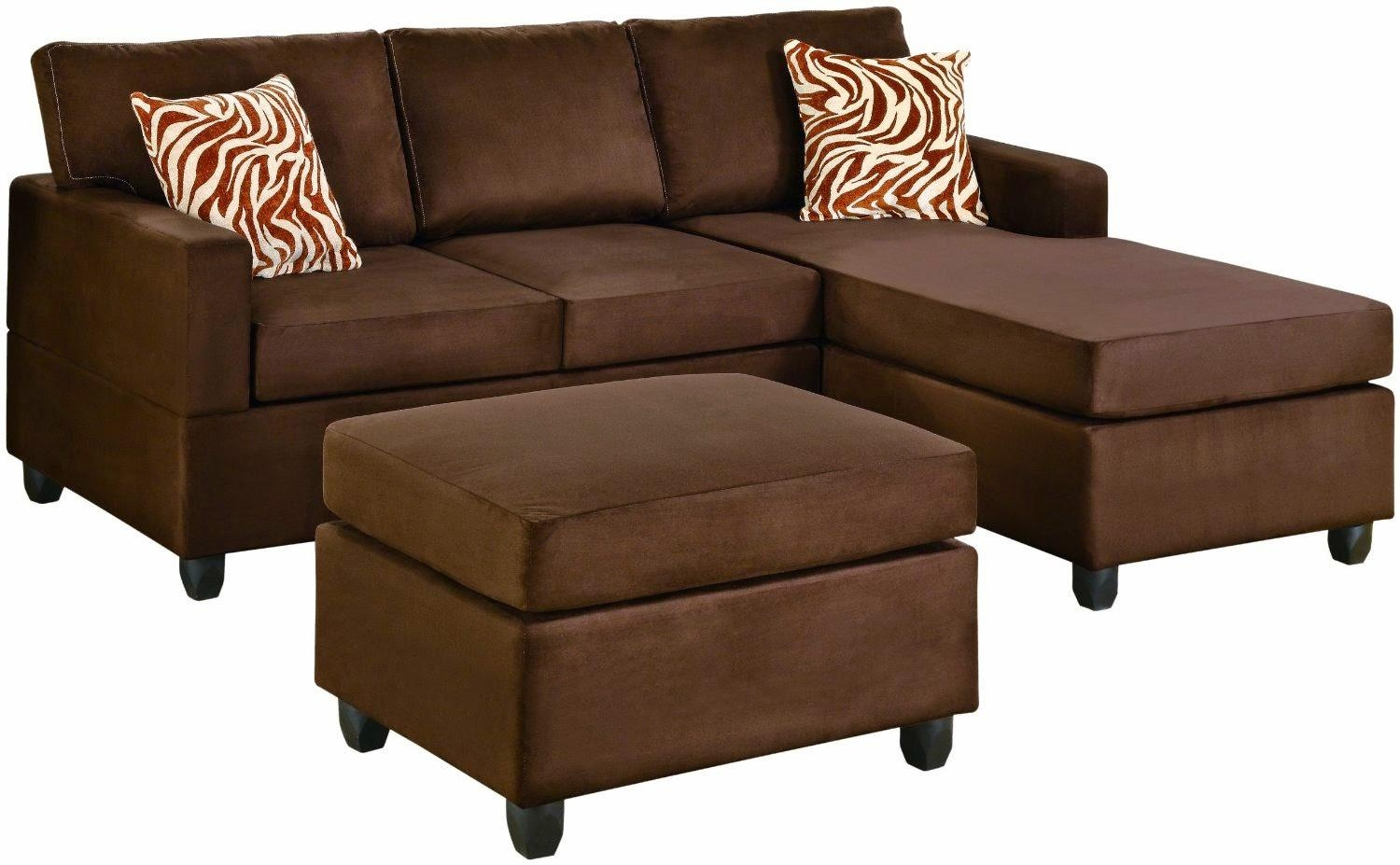 Furniture: Lovely Brown Microfiber Couch With Superb Color For Microsuede Sleeper Sofas (Image 6 of 20)