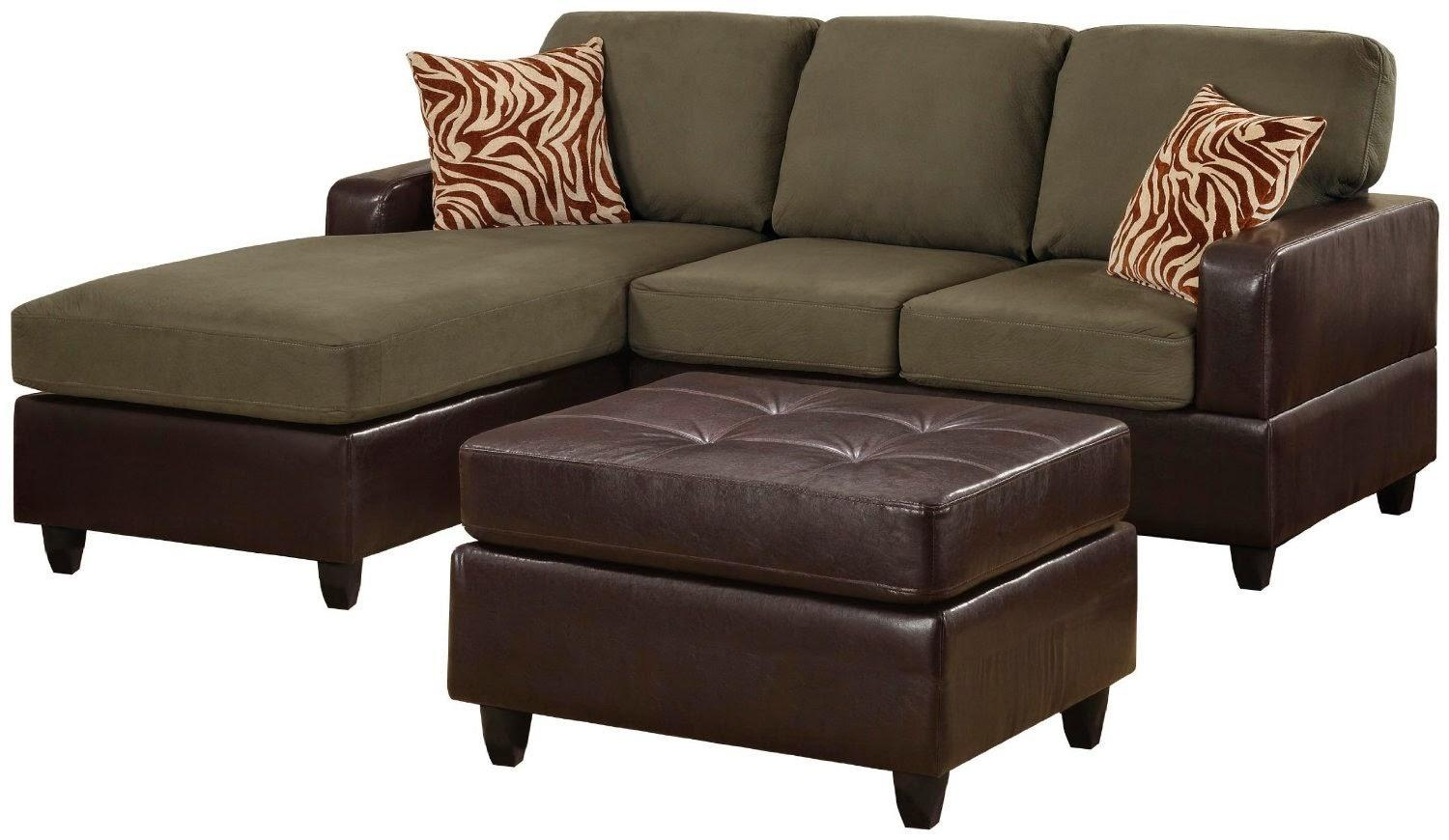 Furniture: Lovely Brown Microfiber Couch With Superb Color In Blue Microfiber Sofas (View 11 of 20)