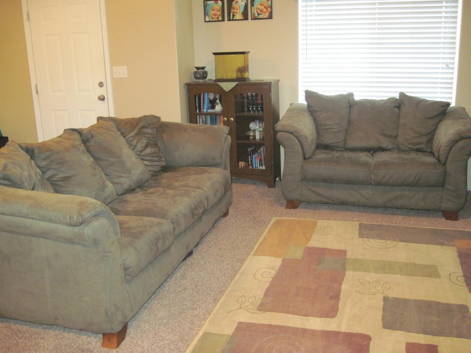 Furniture: Lovely Brown Microfiber Couch With Superb Color Throughout Green Microfiber Sofas (Image 8 of 20)
