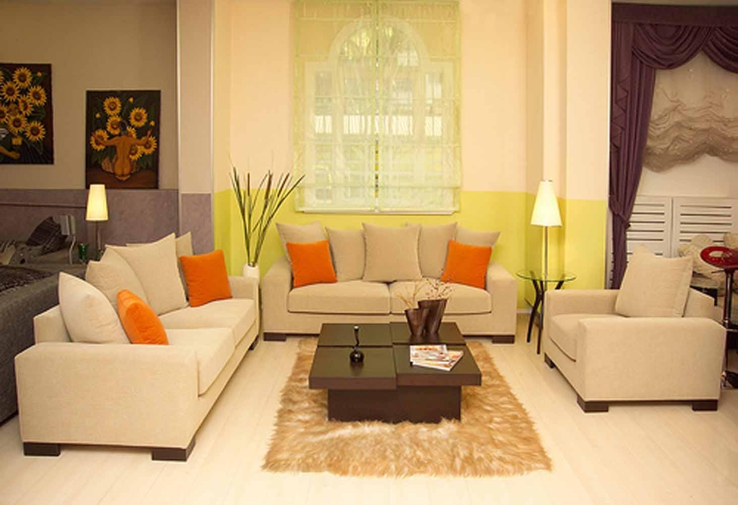 Furniture : Lovely Small Living Room Furniture Cream Color Sofa Intended For Cream Colored Sofas (View 14 of 20)