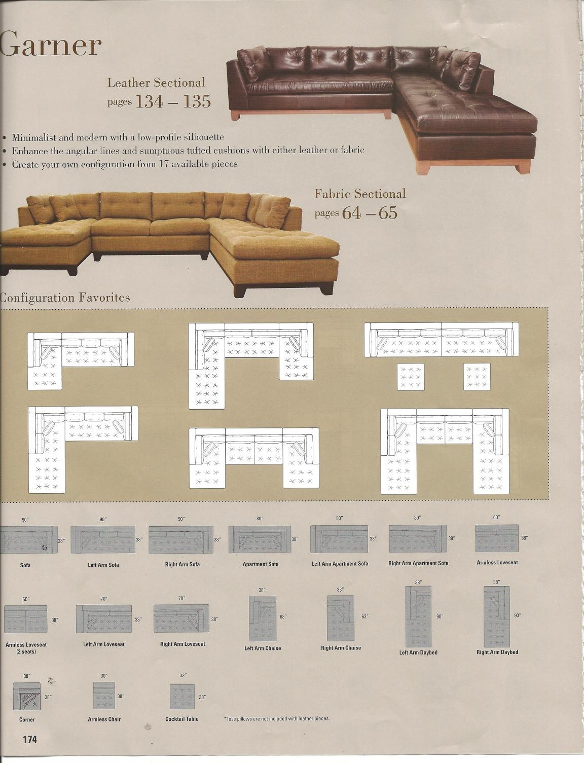 Furniture: Loveseat And Chaise Sectional | Arhaus Sectional With Regard To Arhaus Emory Sectional (Image 11 of 15)