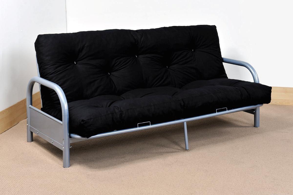 Furniture: Mainstays Futon | Futon Beds Walmart | Leather Futon Inside Leather Fouton Sofas (Image 10 of 20)