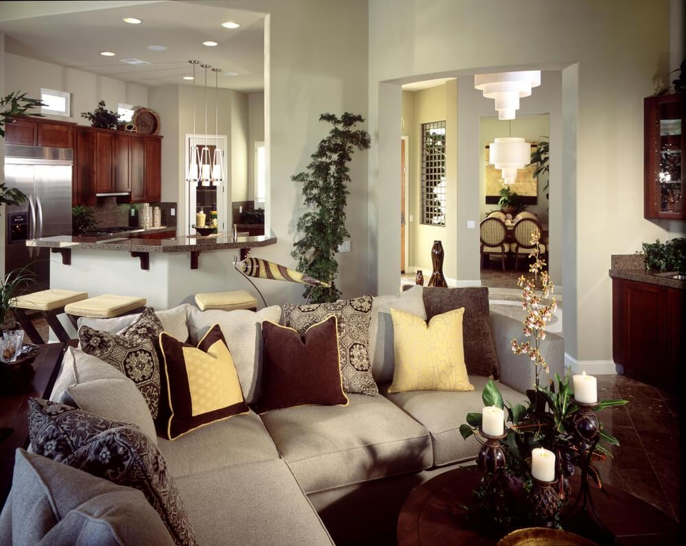 Furniture: Media Room Sectional | Distressed Leather Sectional Pertaining To Media Room Sectional (Image 5 of 20)