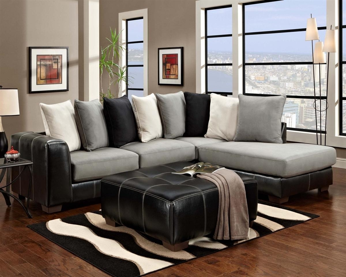 Furniture: Microfiber Sectional | Microfiber Sectional Sofas Pertaining To Black Microfiber Sectional Sofas (Image 8 of 20)
