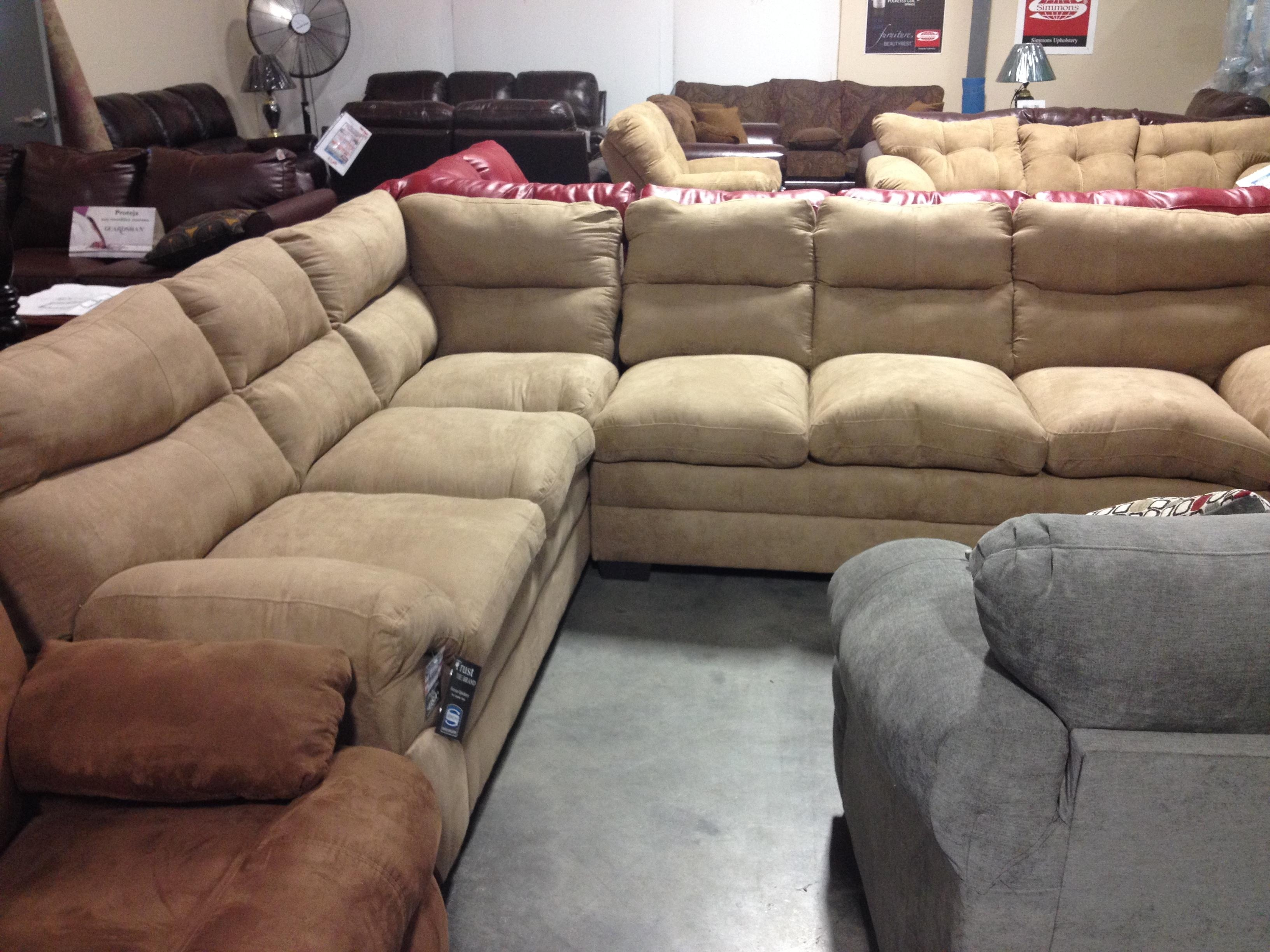Furniture: Microfiber Sectional | Sectional Microfiber Couch Intended For Simmons Microfiber Sofas (Image 4 of 20)