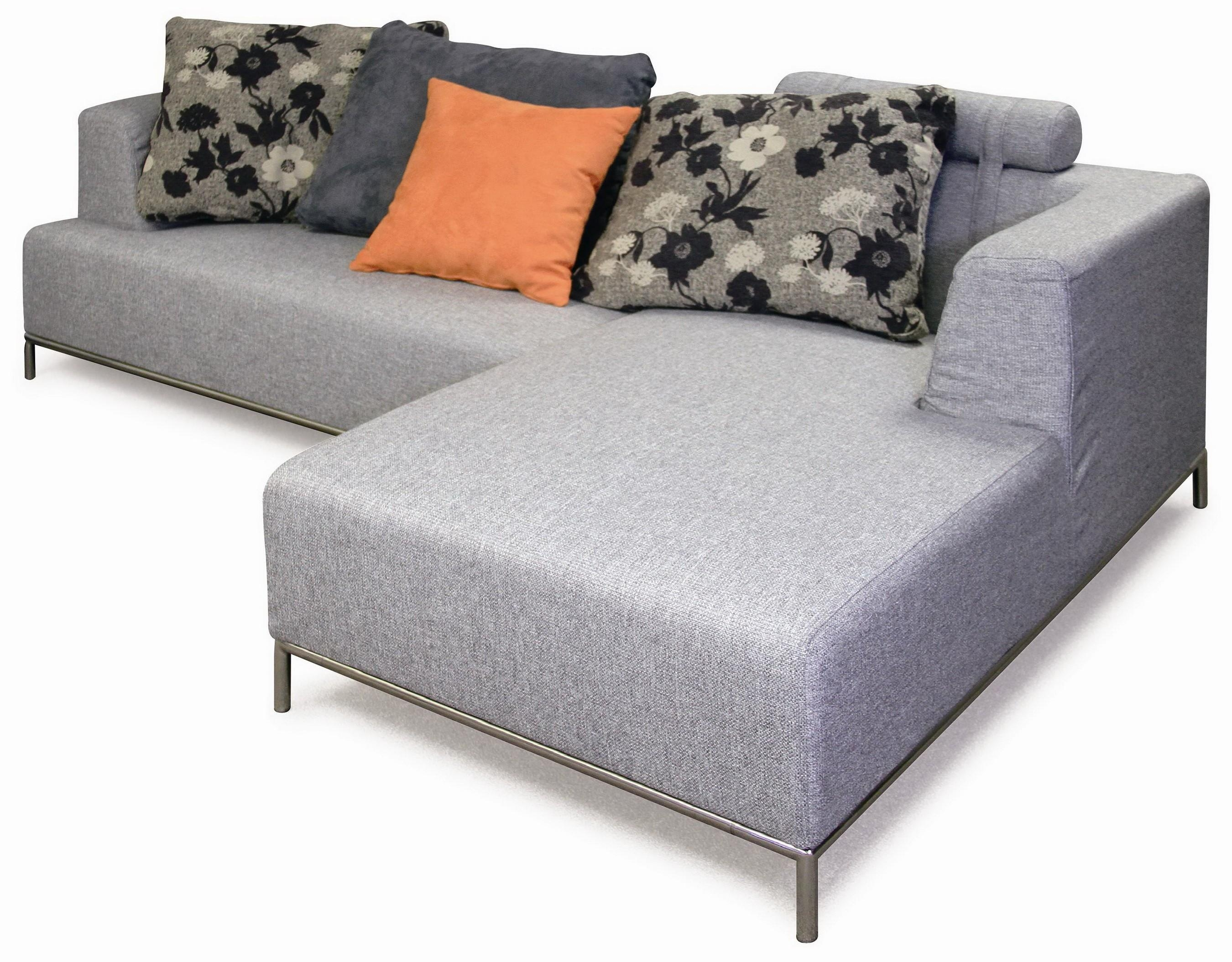 Furniture: Microfiber Sofas | Grey Sectional Sleeper Sofa | Gray Pertaining To Microsuede Sleeper Sofas (Image 7 of 20)