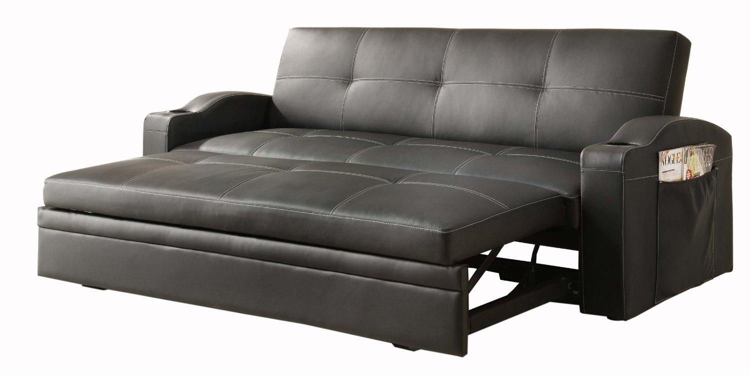 Furniture: Modern Futon Beds At Walmart With Splendid Look And Intended For Pull Out Queen Size Bed Sofas (View 13 of 20)