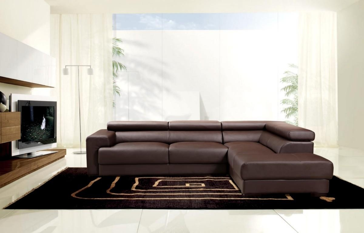 Furniture: Modular Couch | Basset Sectional | Brown Leather Sectional In Leather Modular Sectional Sofas (Image 9 of 20)