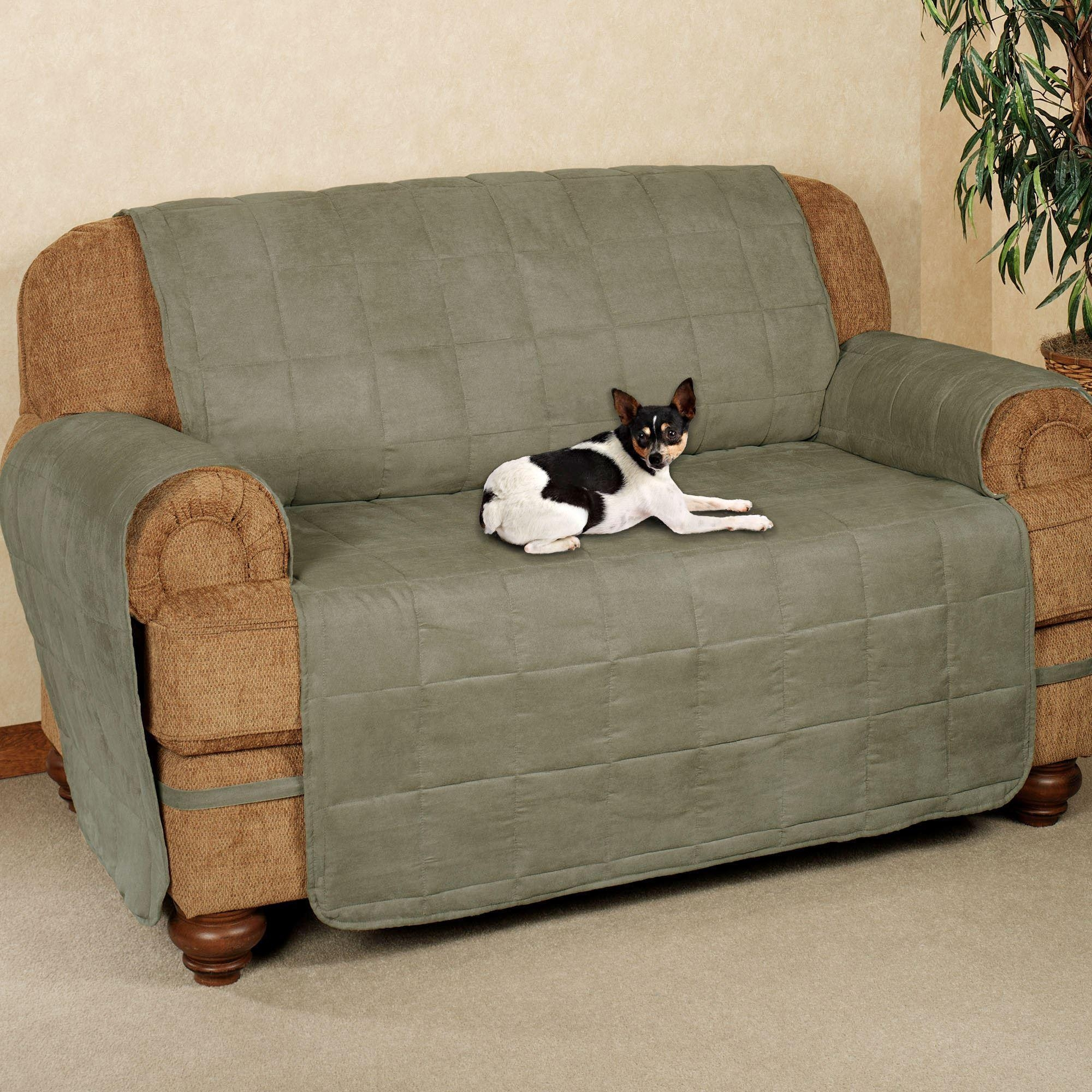 Furniture: Nice Waterproof Couch Cover For Shield Your Furniture Pertaining To Pet Proof Sofa Covers (View 3 of 20)