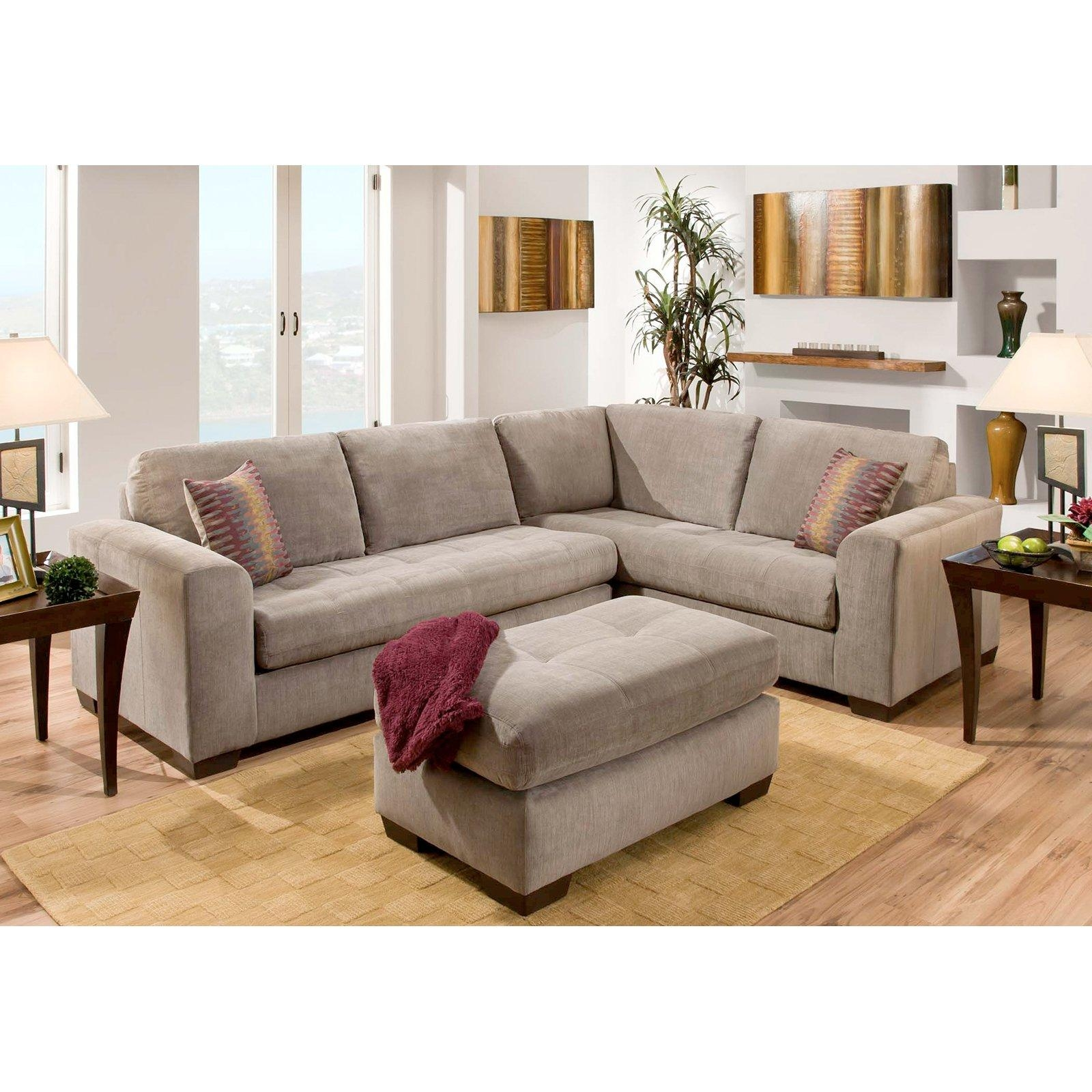 Furniture Of America Parker 2 Piece Fabric Sectional Sofa – Gray Inside Bauhaus Furniture Sectional Sofas (Image 16 of 20)
