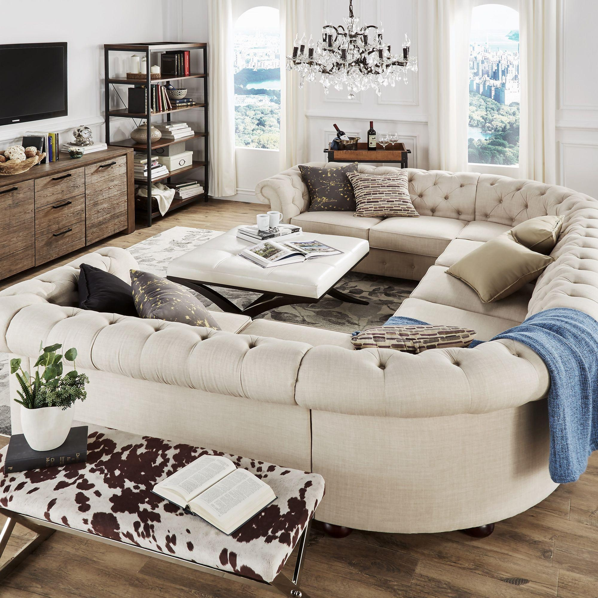Furniture: Oversized Couch | Couch And Oversized Chair | Deep Intended For Huge Sofas (View 16 of 20)