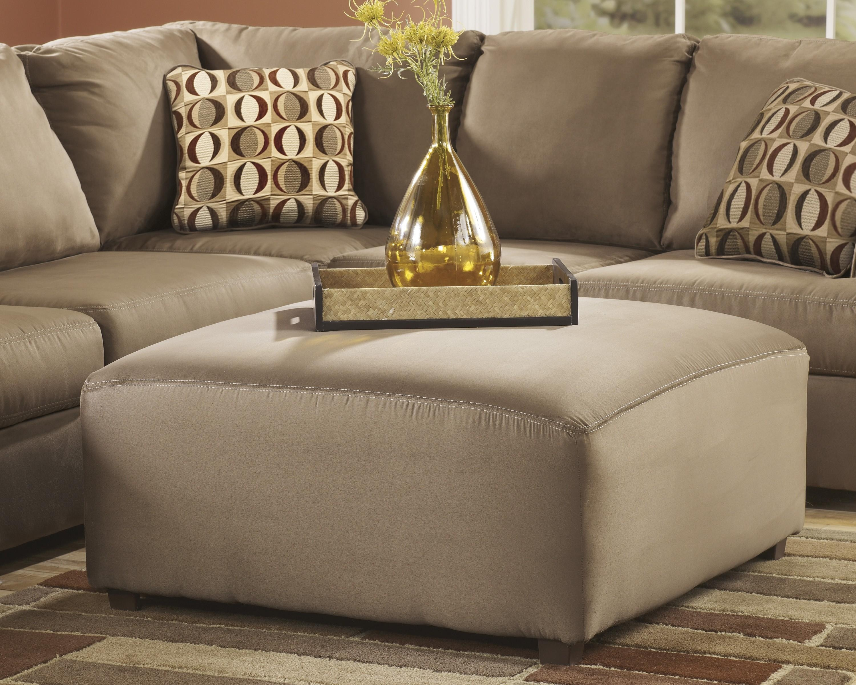 Furniture: Oversized Ottoman Will Make Your Living Room Standout With Regard To Sectional Sofa With Oversized Ottoman (Image 10 of 20)