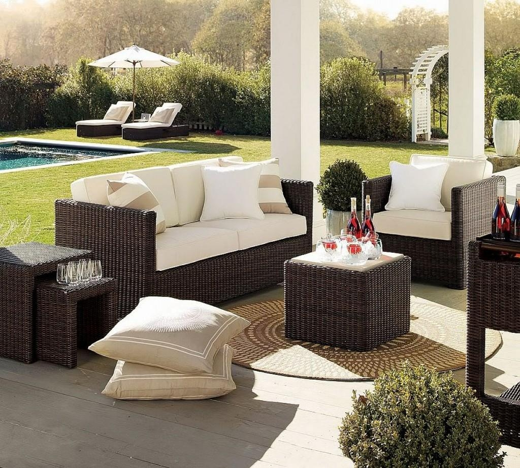 Furniture Patio Sofas On Clearance Closeout With Regard To
