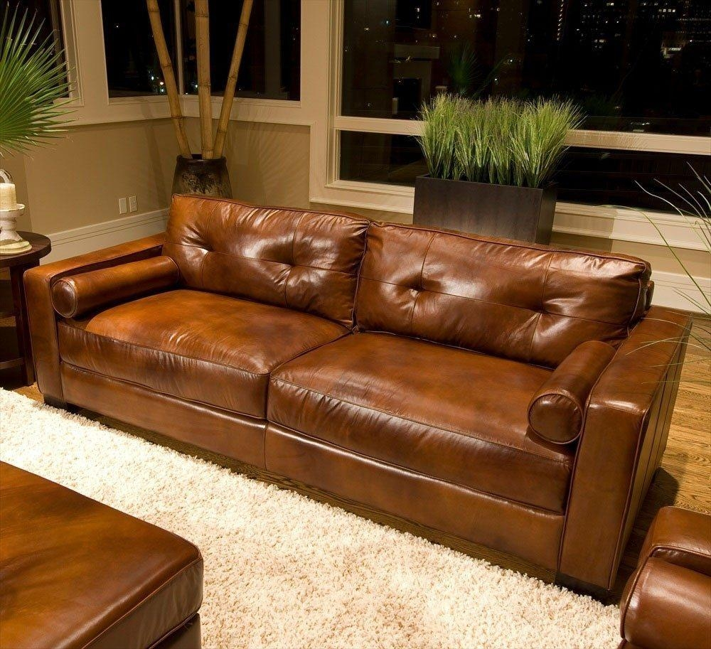 Furniture: Perfect Living Furniture Ideas With Deep Seated Couch Throughout Deep Seat Leather Sectional (Image 10 of 15)