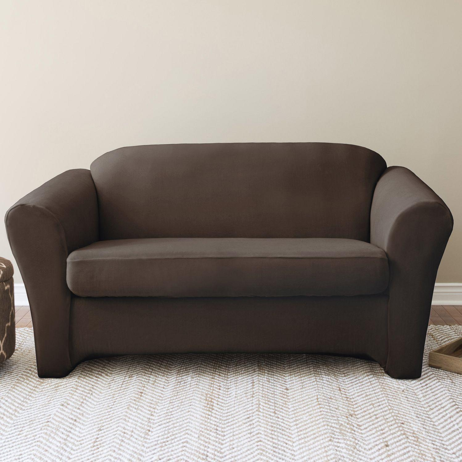 Furniture: Perfect Living Room With Sofa Slipcovers Walmart For Pertaining To Black Sofa Slipcovers (Image 12 of 20)