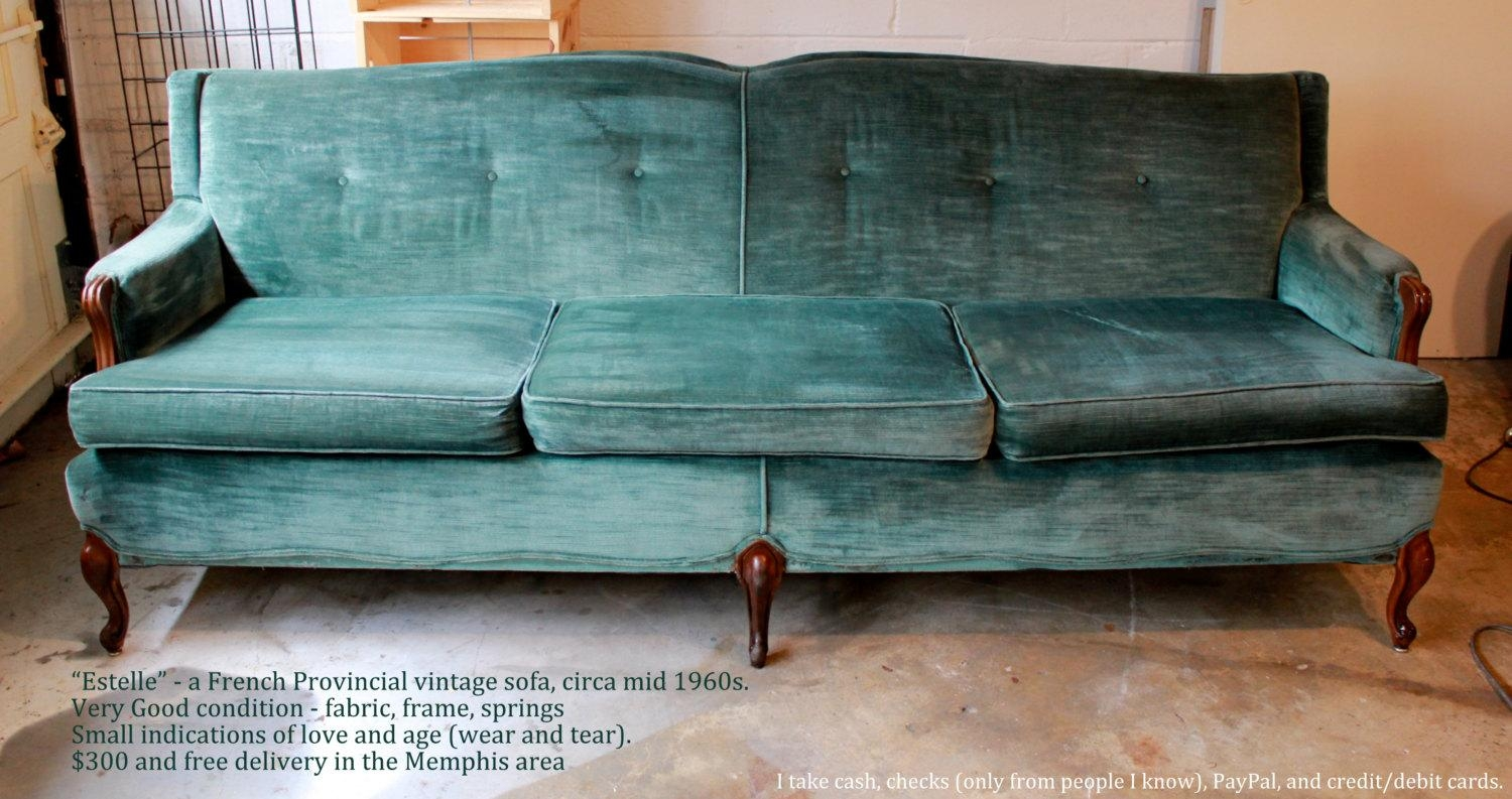 Furniture: Pintuck Sofa | Lane Leather Sofa | Velvet Couch Pertaining To Chartreuse Sofas (Image 16 of 20)