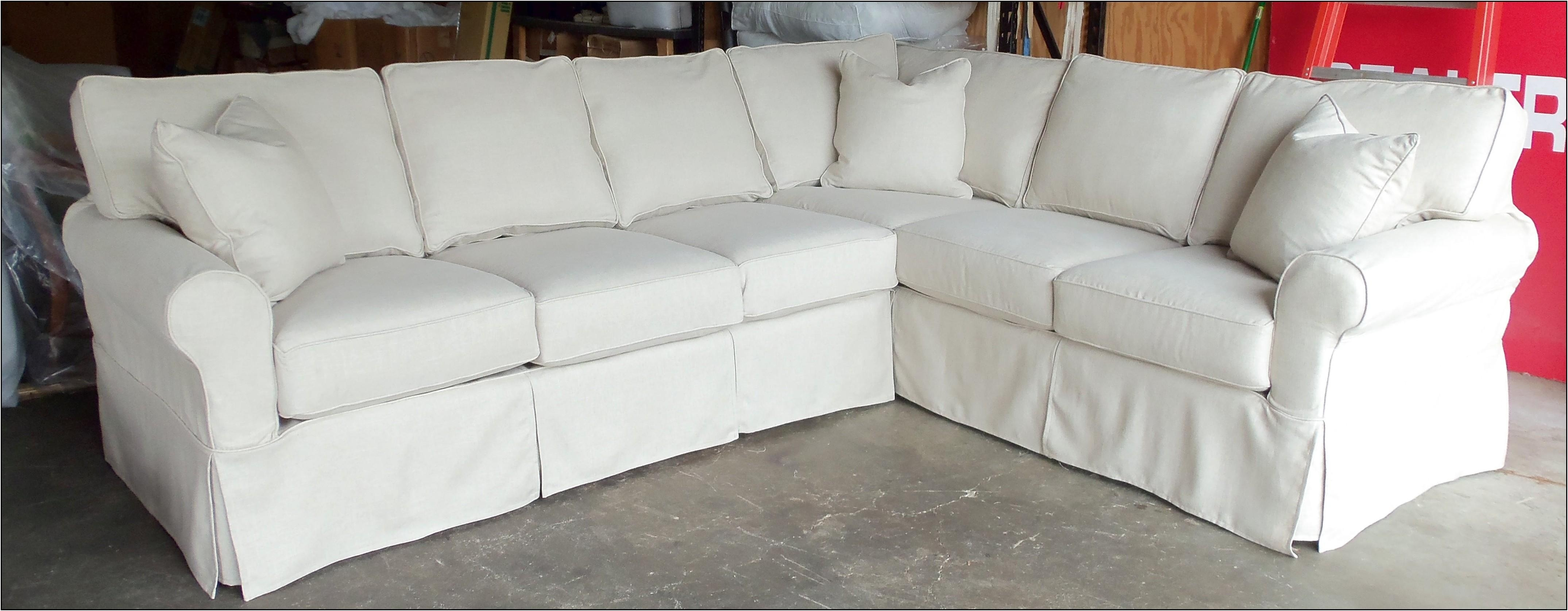Furniture: Pottery Barn Sectional To Create Your Perfect Seating Pertaining To 3 Piece Sectional Sleeper Sofa (Image 10 of 15)