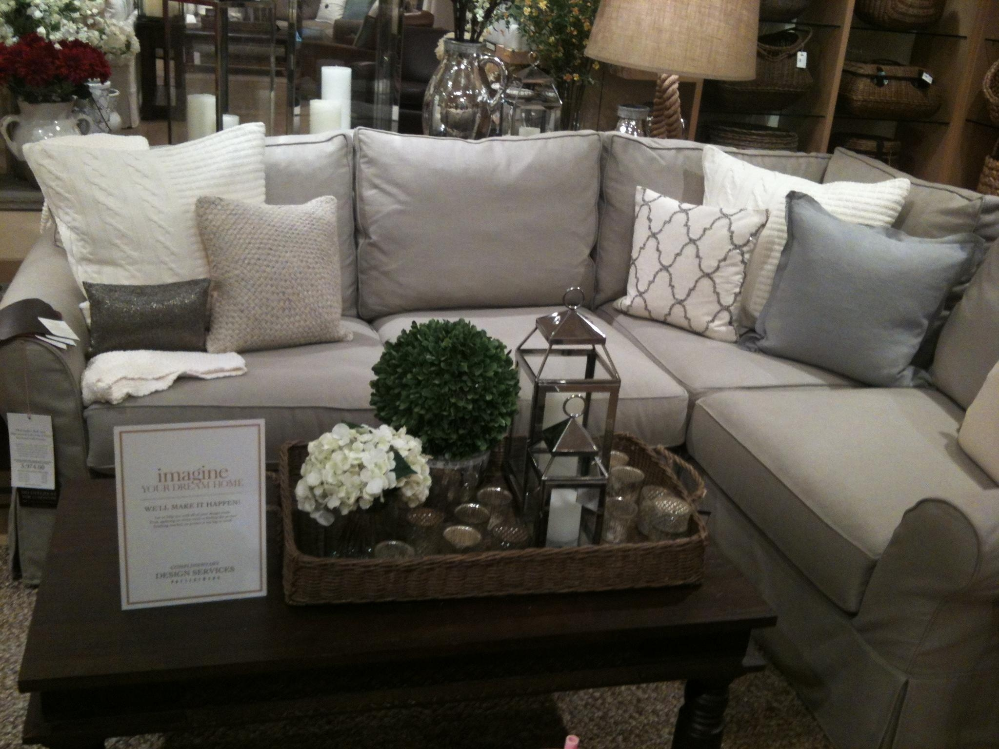 Furniture: Pottery Barn Sectional To Create Your Perfect Seating With Pottery Barn Sectionals (Image 15 of 20)