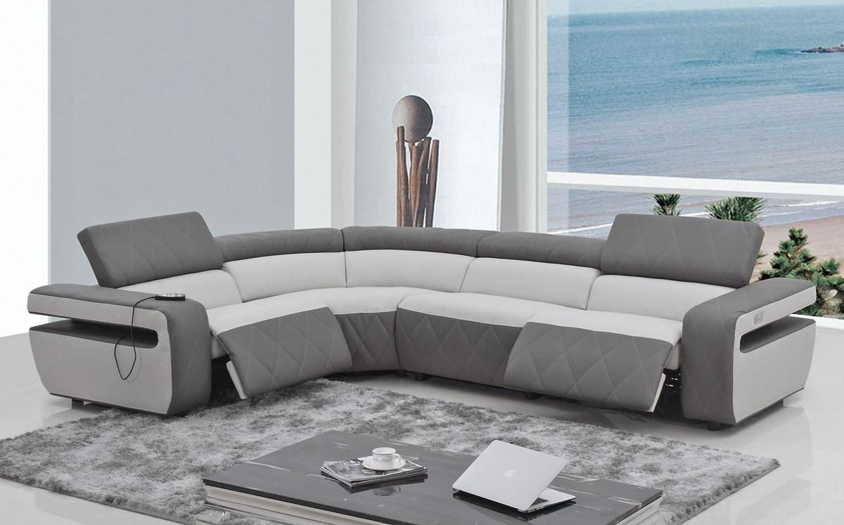 Furniture: Reclining Couch | Leather Couch With Recliner Intended For Modern Reclining Leather Sofas (Image 8 of 20)