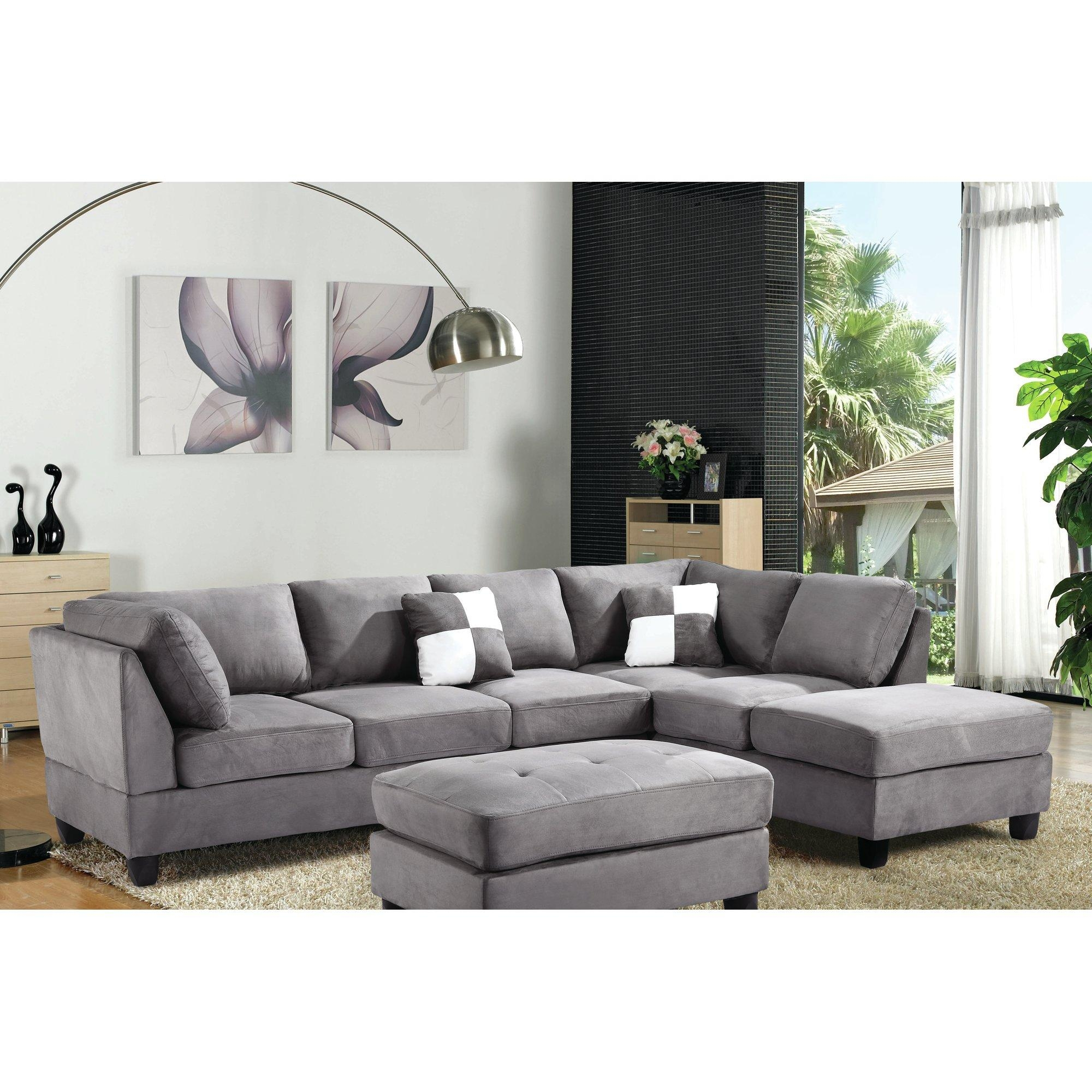 Furniture: Reversible Sectional Sofa Chaise | Sofa With Ottoman Regarding Sofa With Chaise And Ottoman (Image 8 of 20)