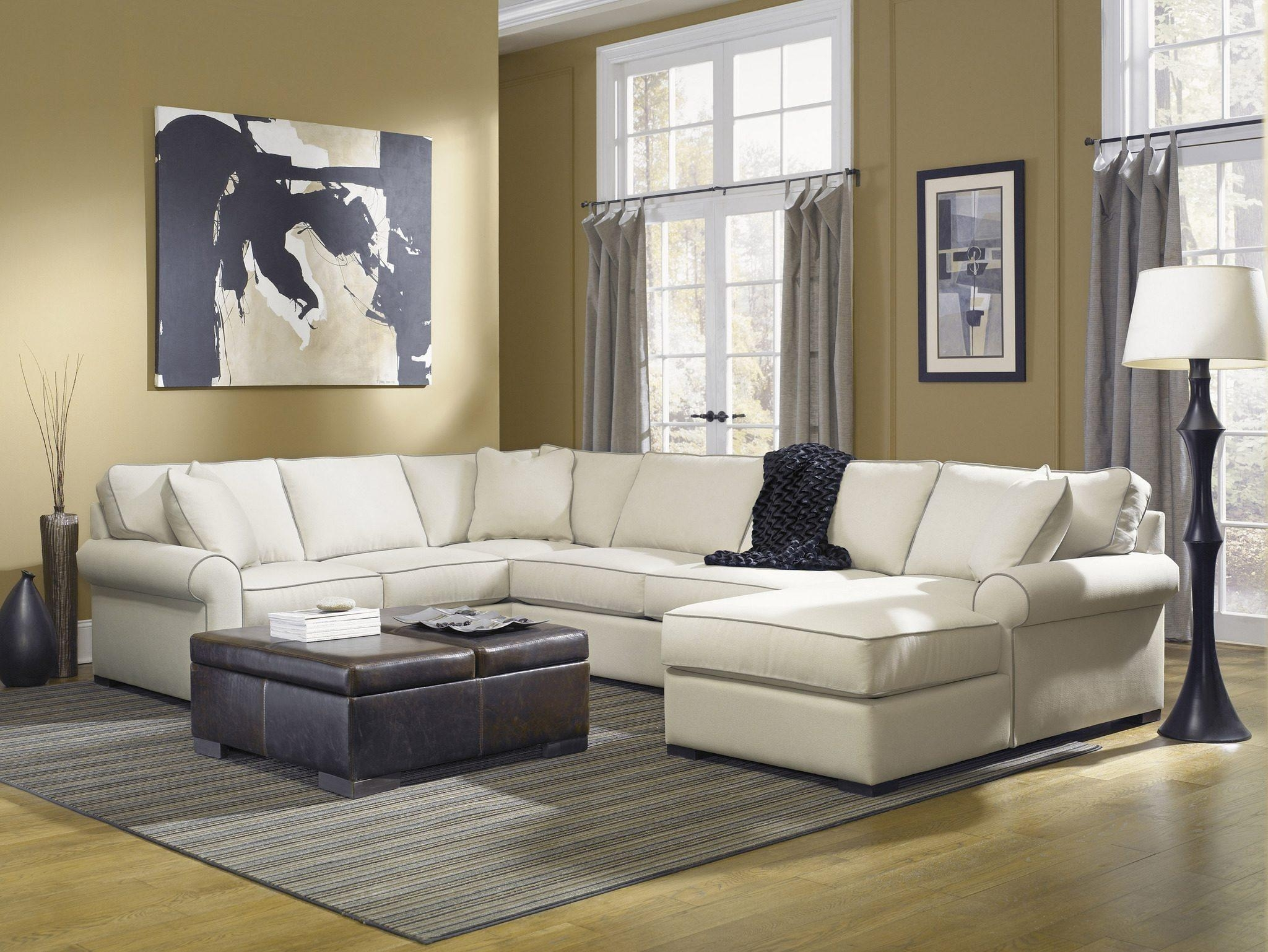 Furniture: Robert Michaels Furniture | Down Filled Couches | Down Regarding Down Feather Sectional Sofa (Image 5 of 15)