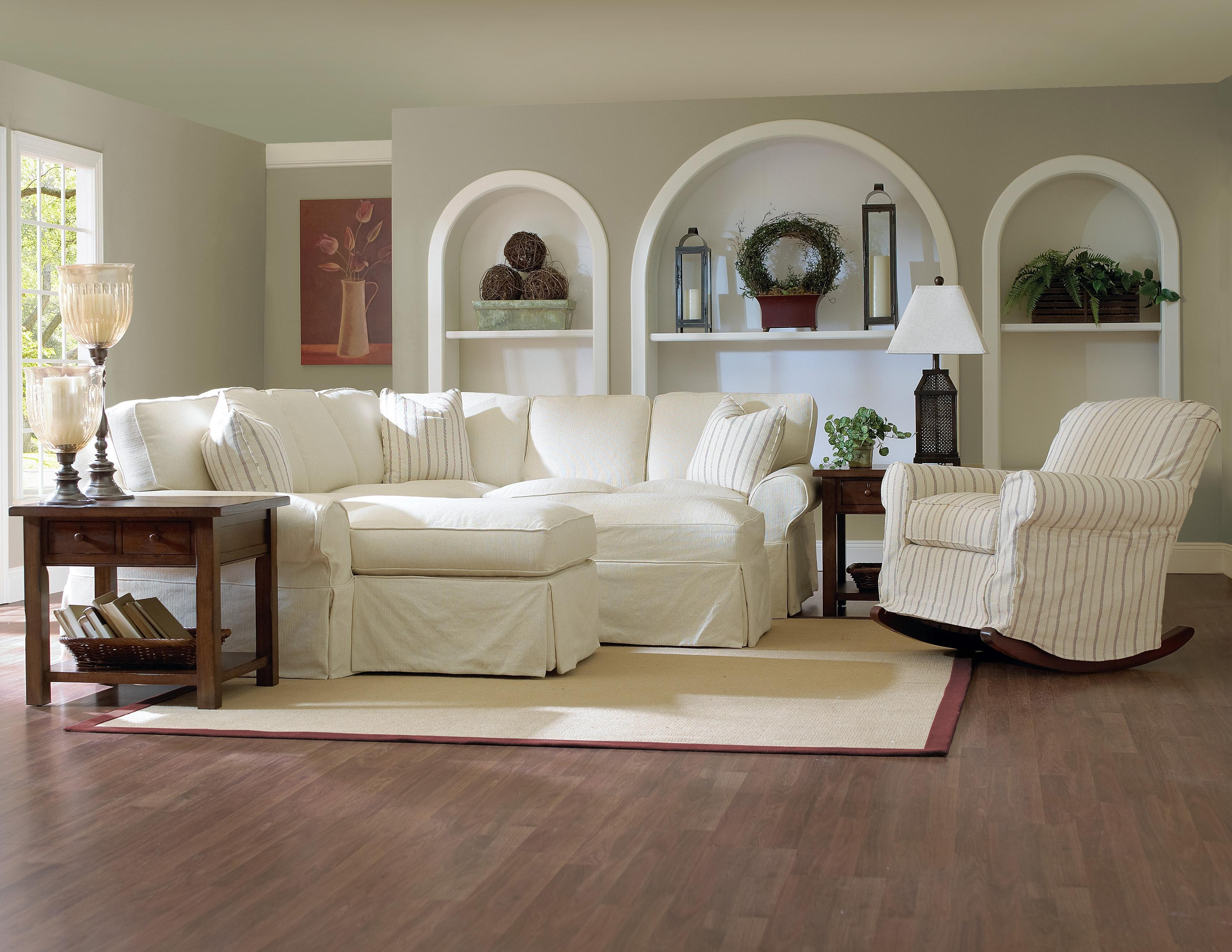 Furniture: Room With A Unique Richness And Sumptuous Softness With Within Pottery Barn Chair Slipcovers (Image 4 of 20)