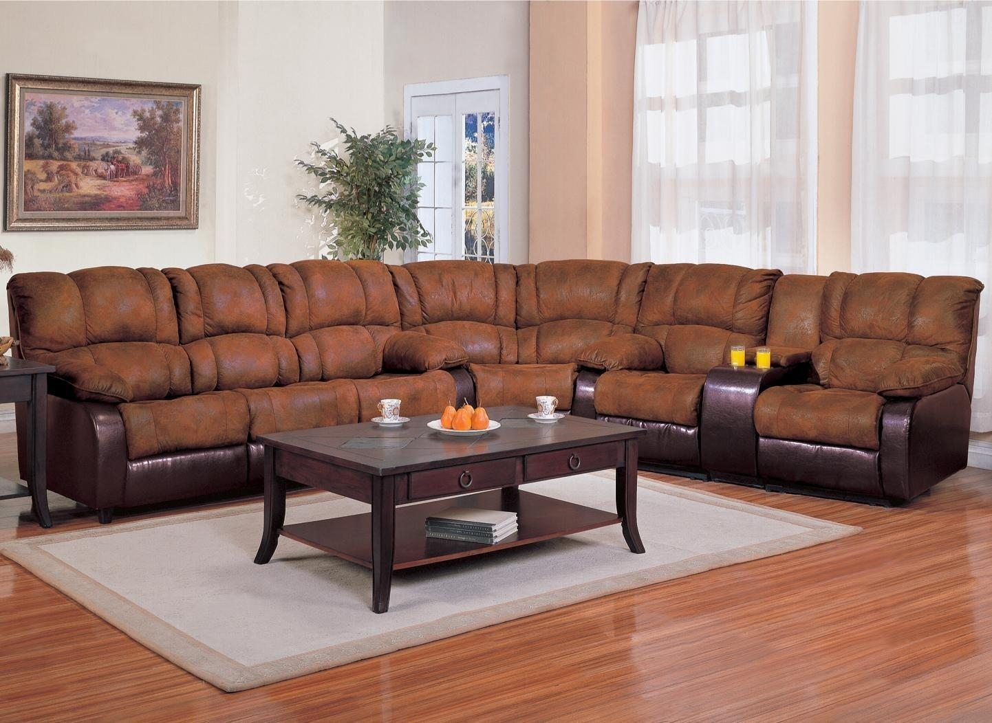 Furniture & Rug: Fancy Sectional Sleeper Sofa For Best Home Regarding Sectional With Recliner And Sleeper (View 3 of 20)