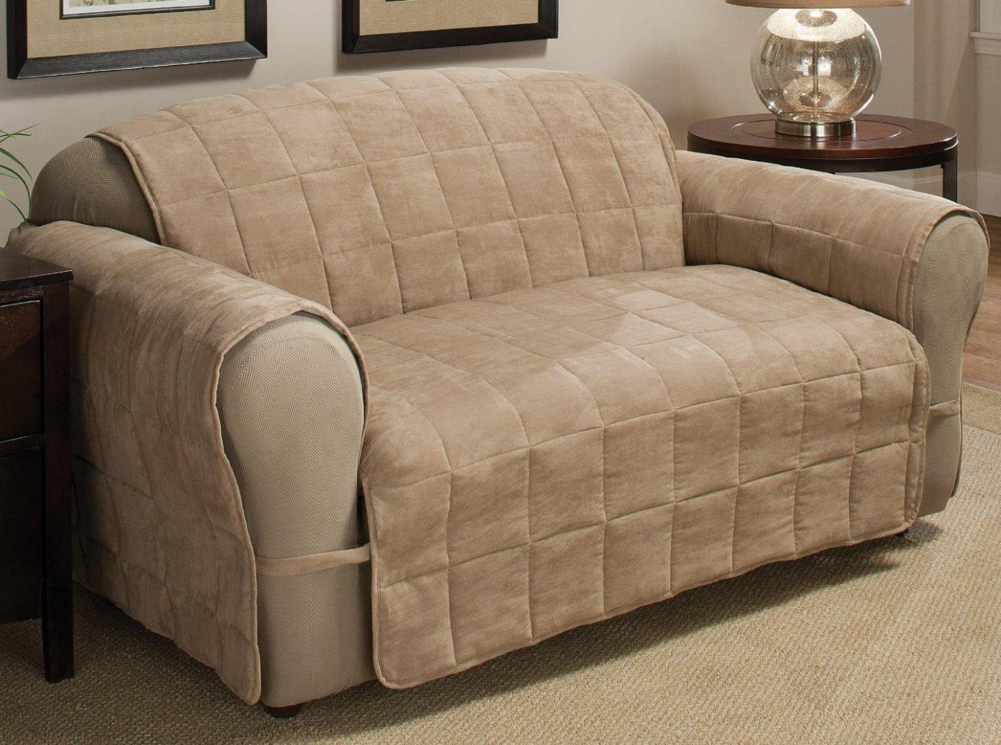 Furniture & Rug: Recliner Covers | Lazy Boy Recliner Cover | Slip Pertaining To Sofa And Chair Covers (View 4 of 20)