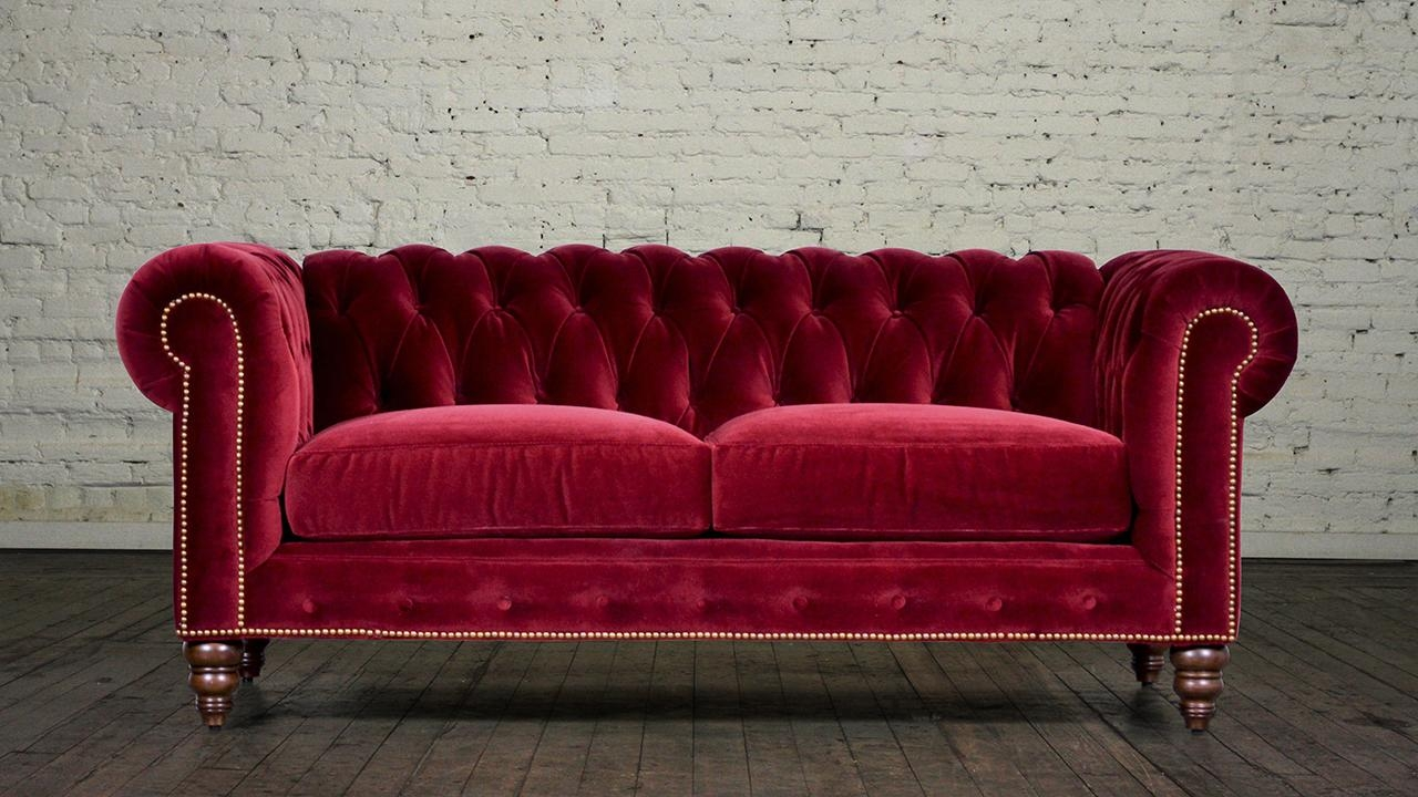 Furniture: Sectional Couch With Chaise | Potterybarn Sectional With Regard To Velvet Sofas Sectionals (Image 12 of 20)