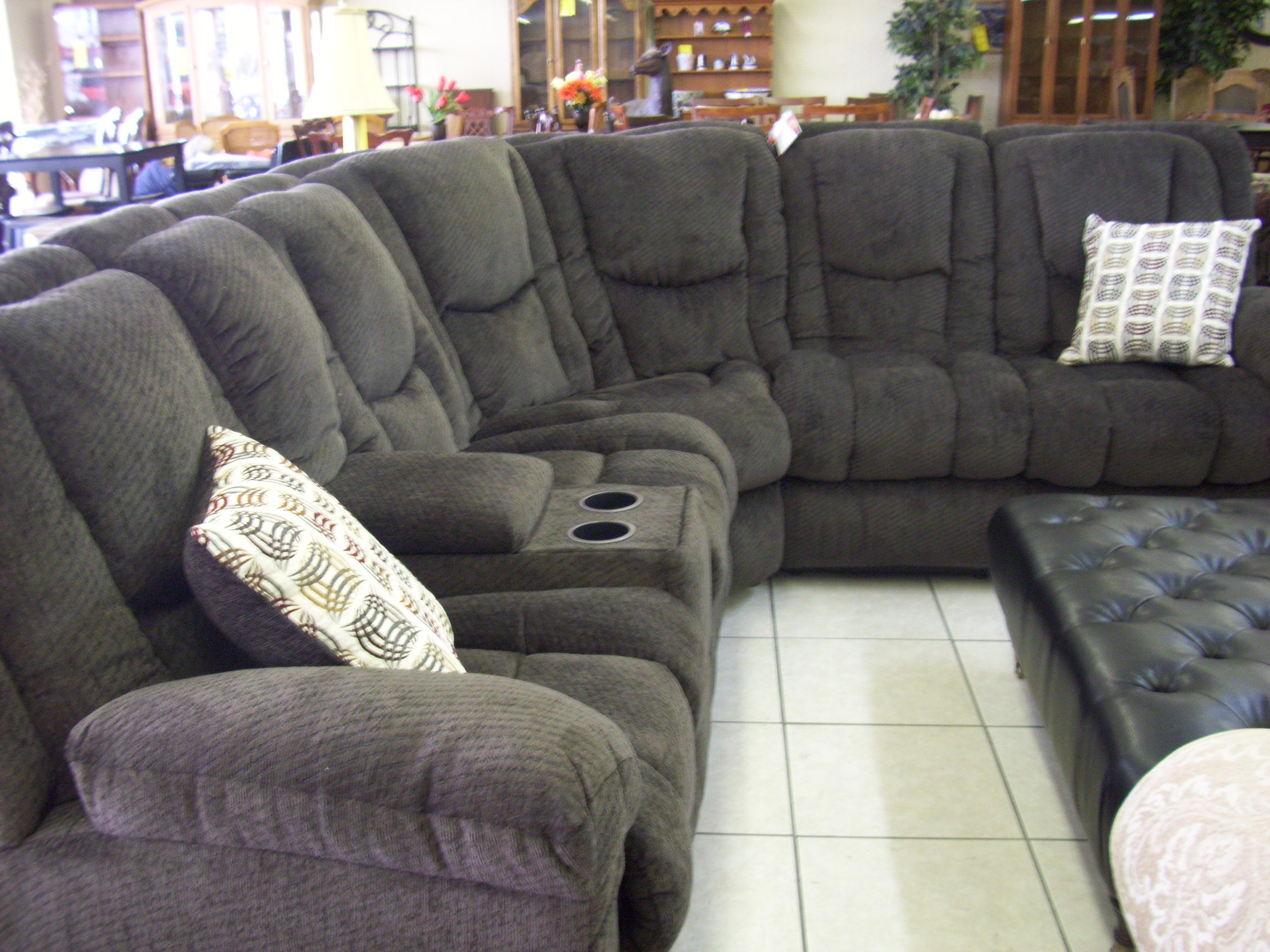 Furniture: Sectional Recliner Sofas | Grey Reclining Sectional Intended For Charcoal Gray Sectional Sofas (Image 6 of 20)