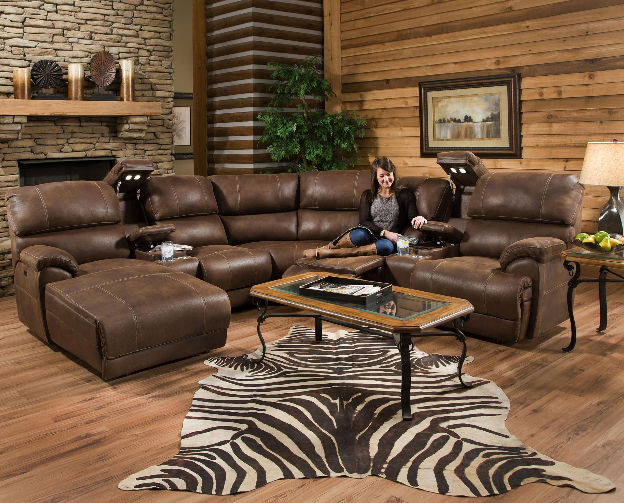 Furniture: Sectional Recliner Sofas | Sectional Sofas With Intended For Sectional Sofas With Electric Recliners (Image 14 of 22)
