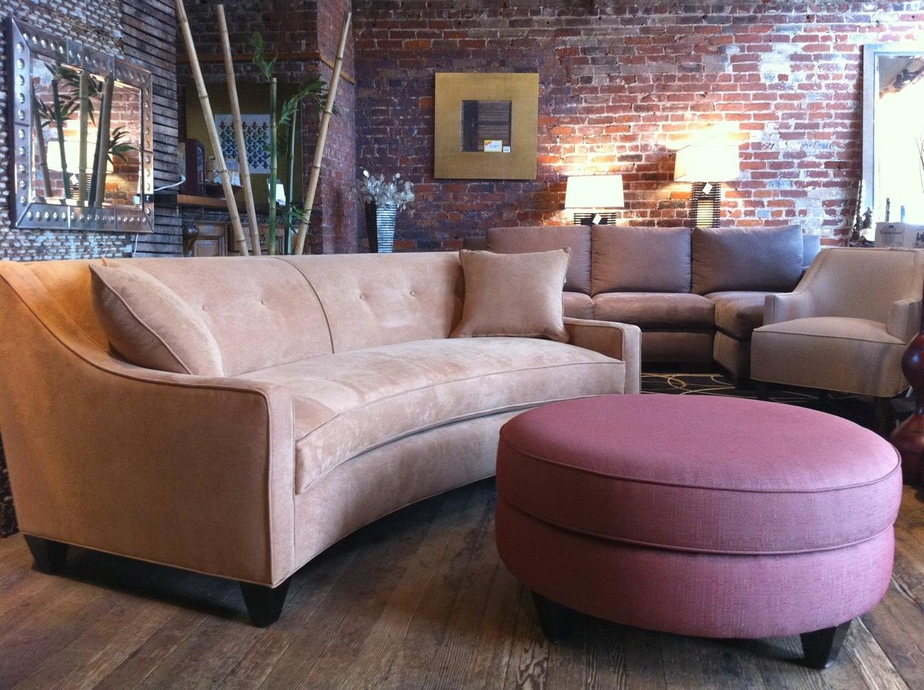 Furniture: Semi Circular Sofas Sectionals With Curved Couches With Regard To Semi Sofas (Image 10 of 20)
