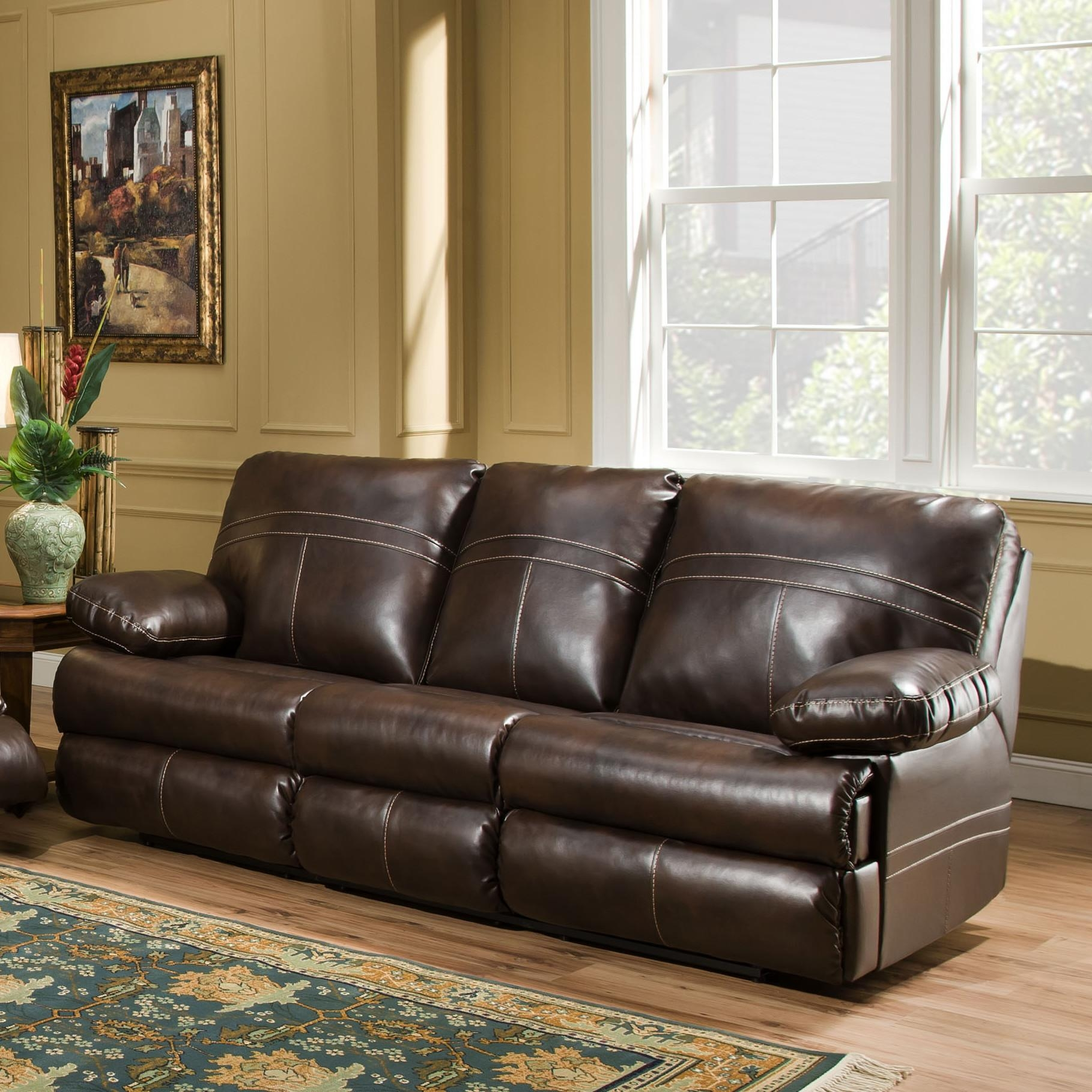 Furniture: Simmons Sectional For Comfortable Seating — Threestems Pertaining To Simmons Leather Sofas And Loveseats (Image 2 of 20)