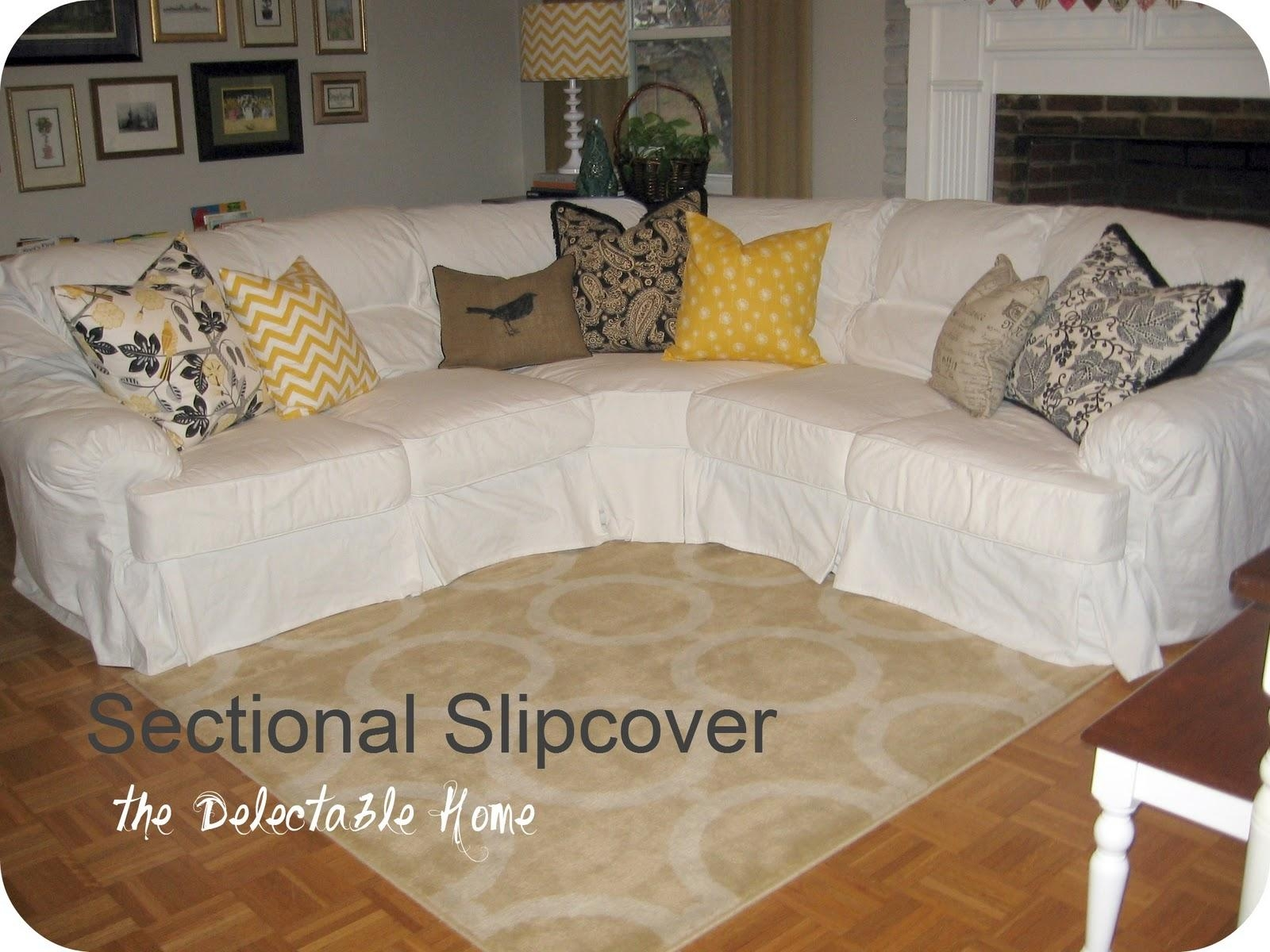 Furniture: Slipcovered Sectional Sofa | 3 Piece Sectional Couch Inside 3 Piece Sofa Covers (View 20 of 20)