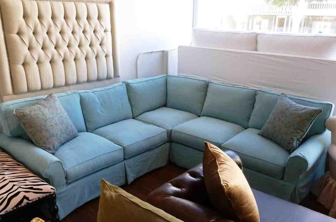 Furniture: Slipcovers For Sectional That Applicable To All Kinds In Blue Slipcover Sofas (Image 7 of 20)