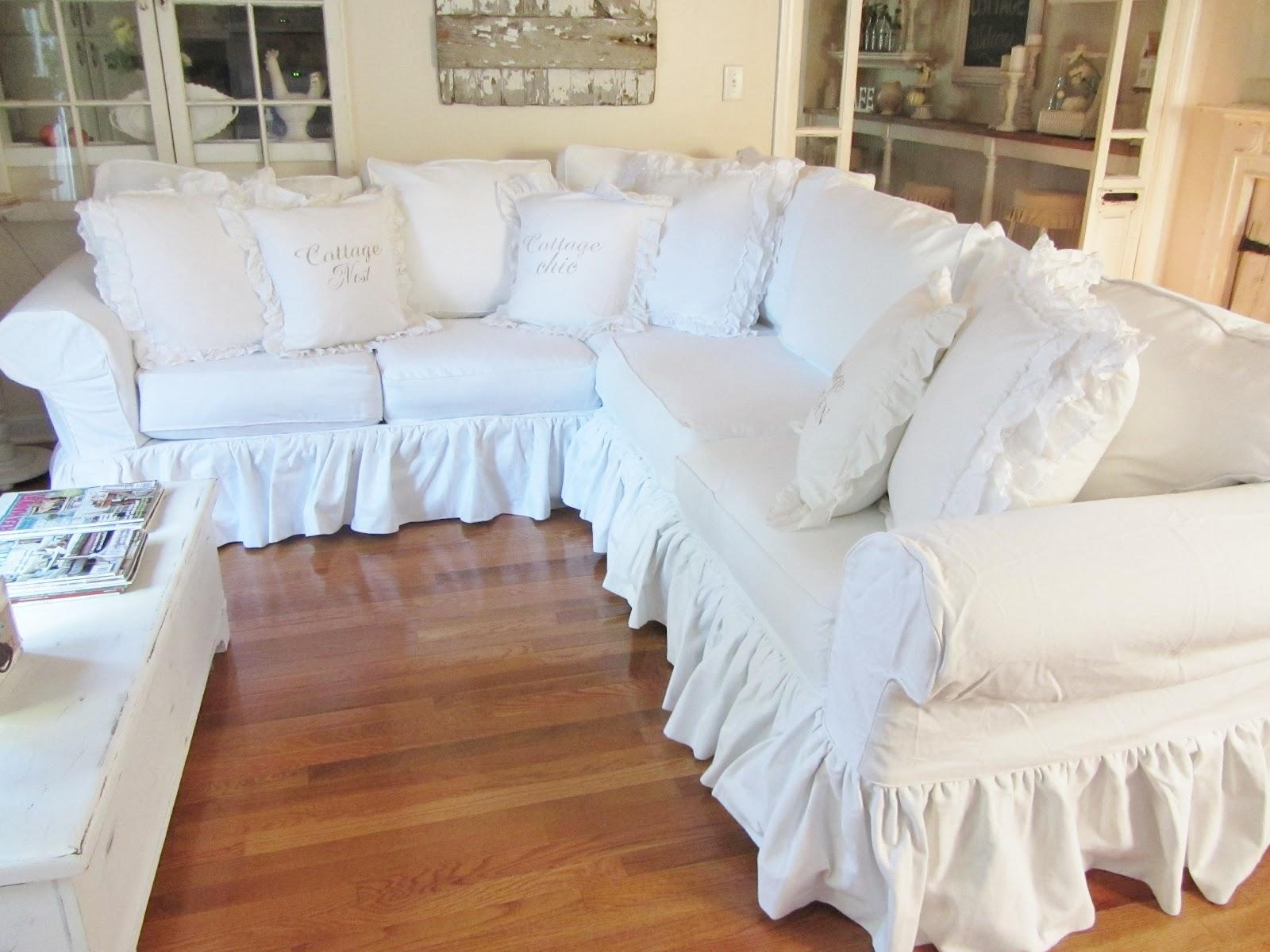 Furniture: Slipcovers For Sectional That Applicable To All Kinds Throughout Slipcovers For Sectional Sofas With Recliners (Image 13 of 20)