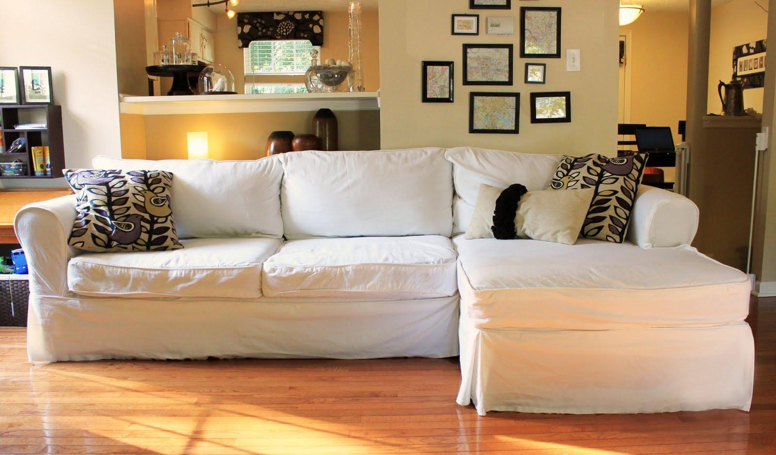 Furniture: Slipcovers For Sectional That Applicable To All Kinds With Chaise Sectional Slipcover (Image 7 of 15)