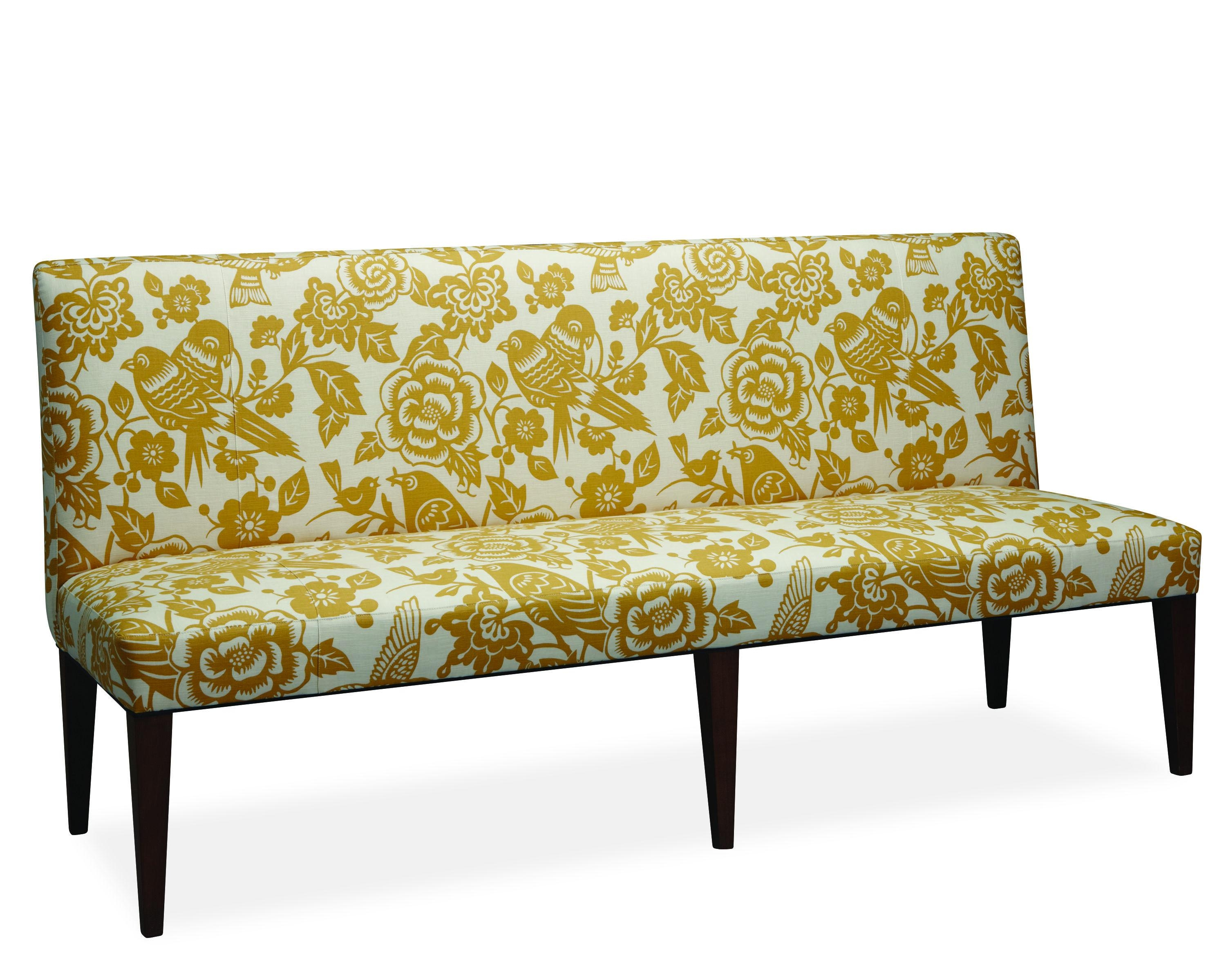 Furniture: Small Armless Sofa | Skyline Settee | Armless Settee Pertaining To Small Armless Sofa (Image 10 of 20)