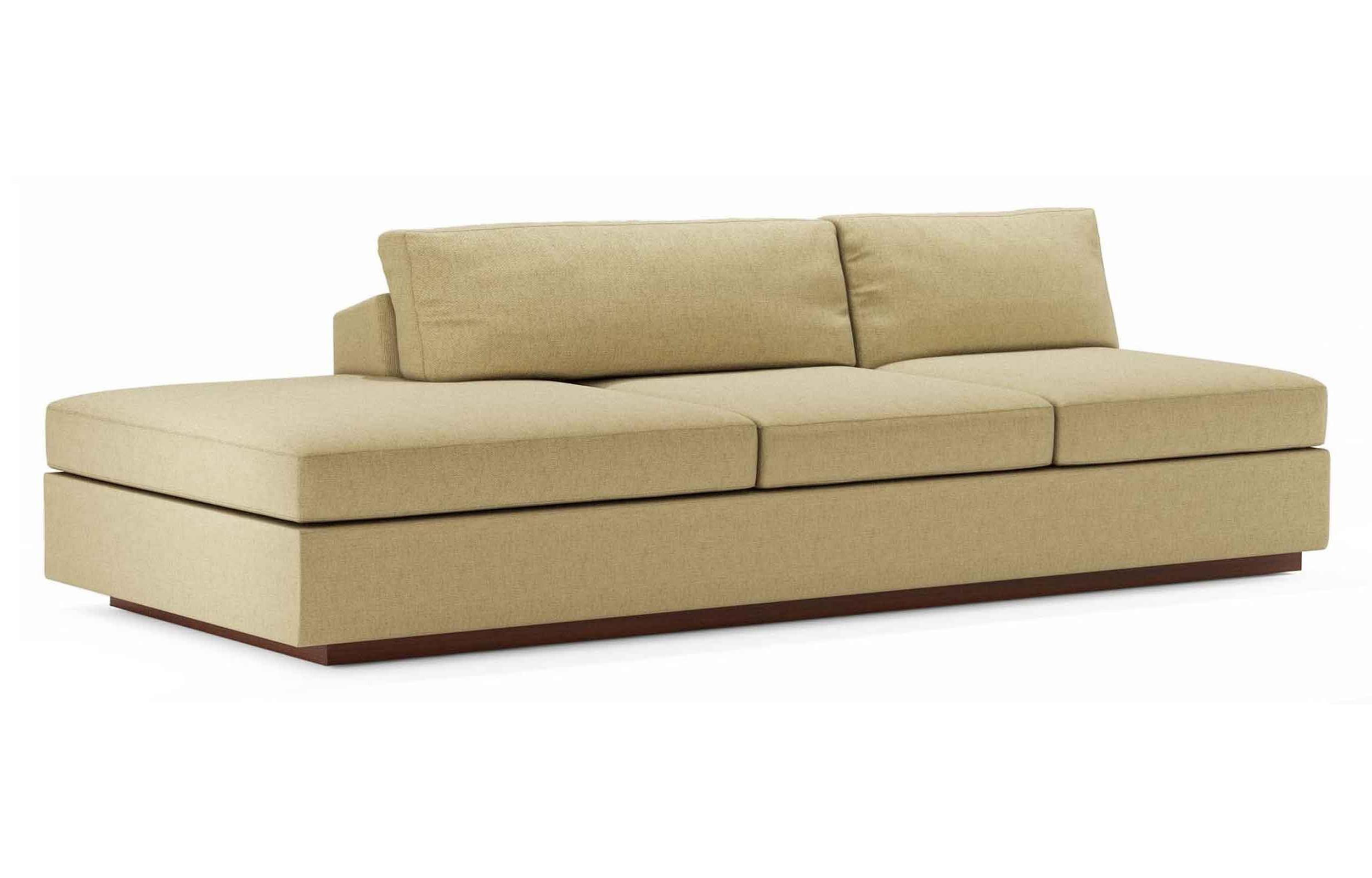 Furniture: Small Armless Sofa | Skyline Settee | Armless Settee With Regard To Small Armless Sofa (View 10 of 20)