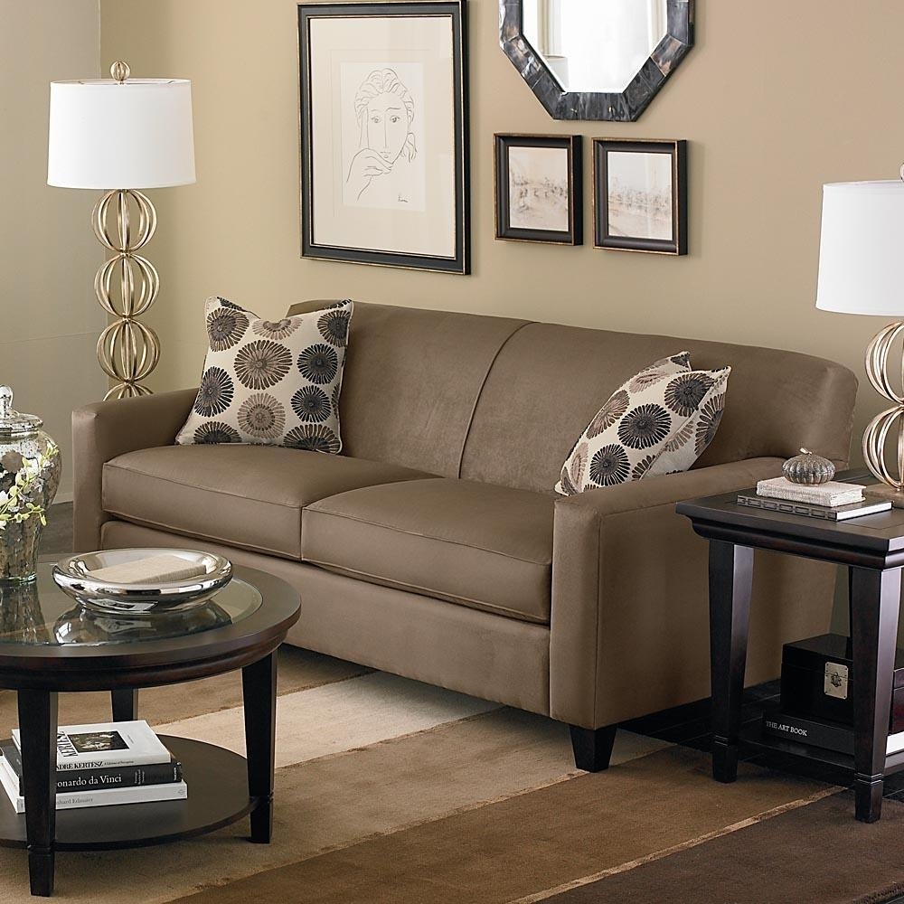 Furniture: Small Armless Sofa | Skyline Settee | Armless Settee With Small Armless Sofa (Image 12 of 20)