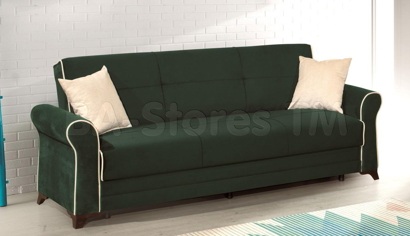 Furniture Sofa Bed Green Inside Green Microfiber Sofas (Image 3 of 20)