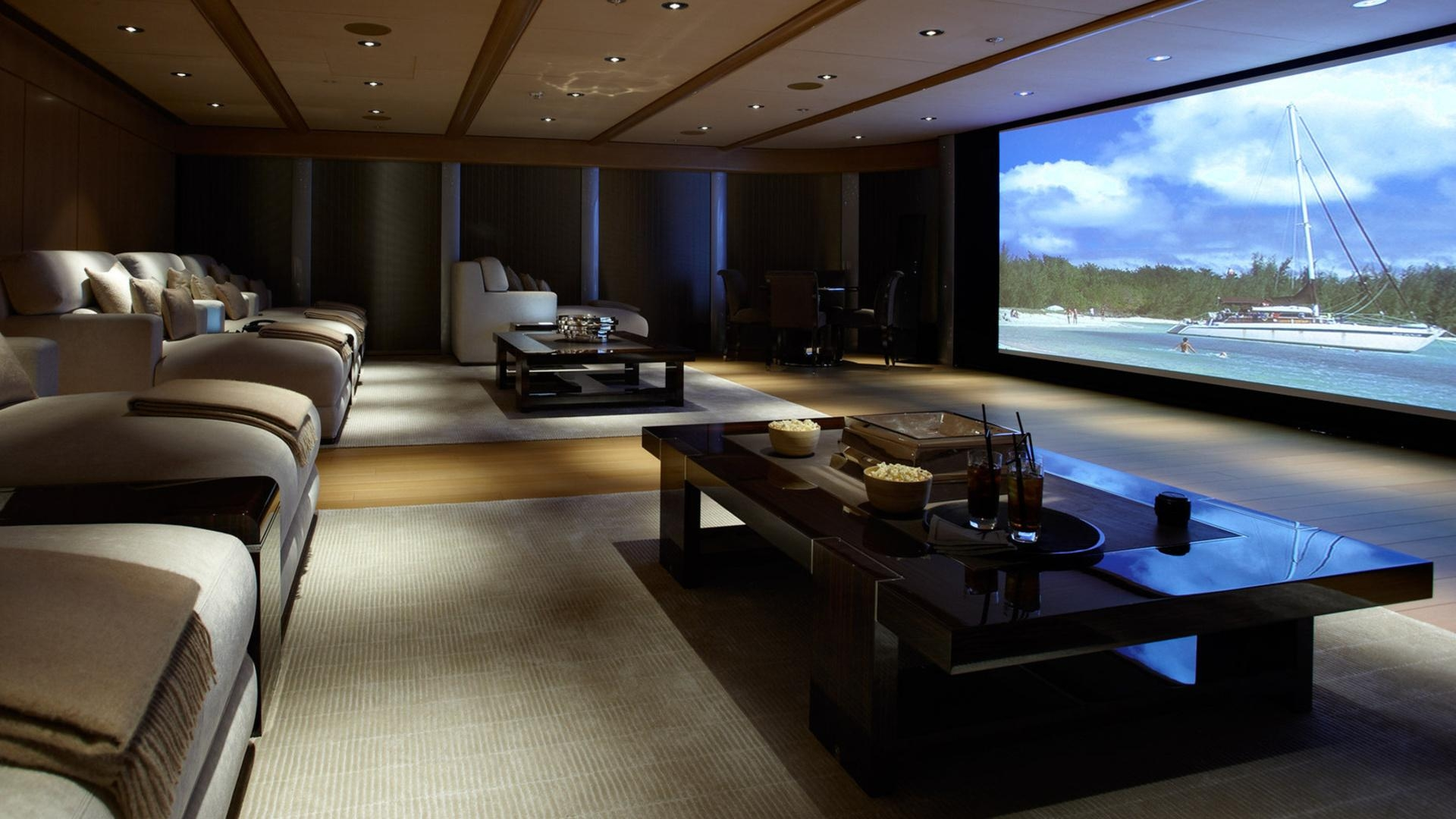 Furniture & Sofa: Enjoy Your Holiday With Costco Home Theater In Theater Room Sofas (Image 7 of 20)