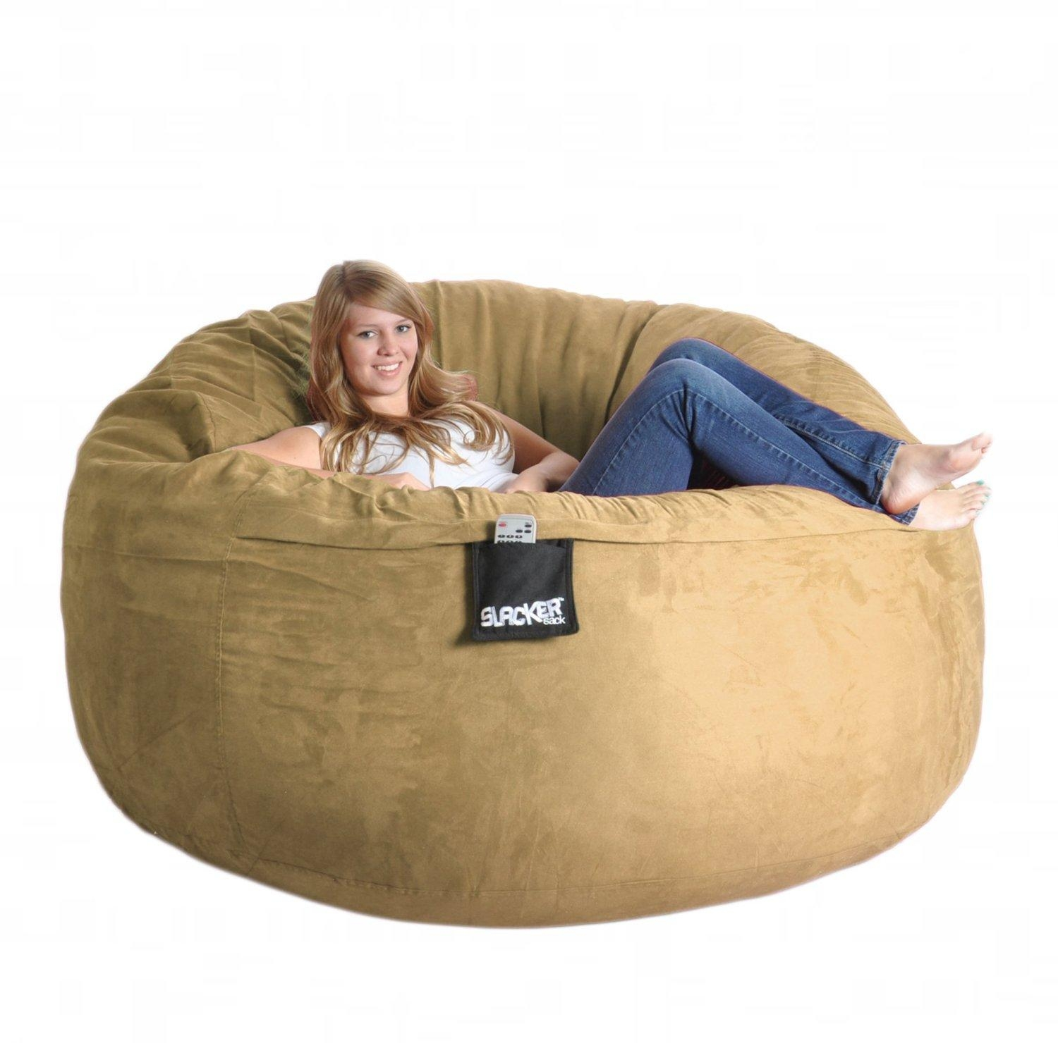 Furniture & Sofa: Fascinating Big Joe Lumin Bean Bag Chair With Inside Giant Bean Bag Chairs (Image 7 of 20)
