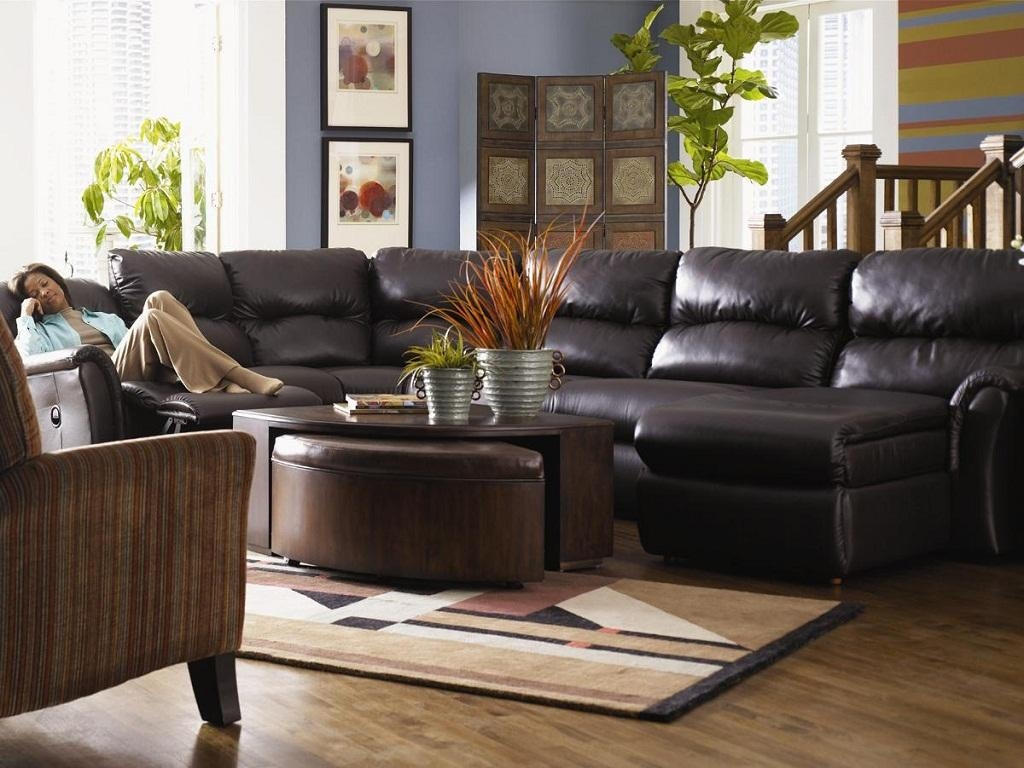 Furniture: Sofa Sleeper Sectional | Reclining Sectional Sofas Intended For Lazy Boy Leather Sectional (Image 16 of 20)