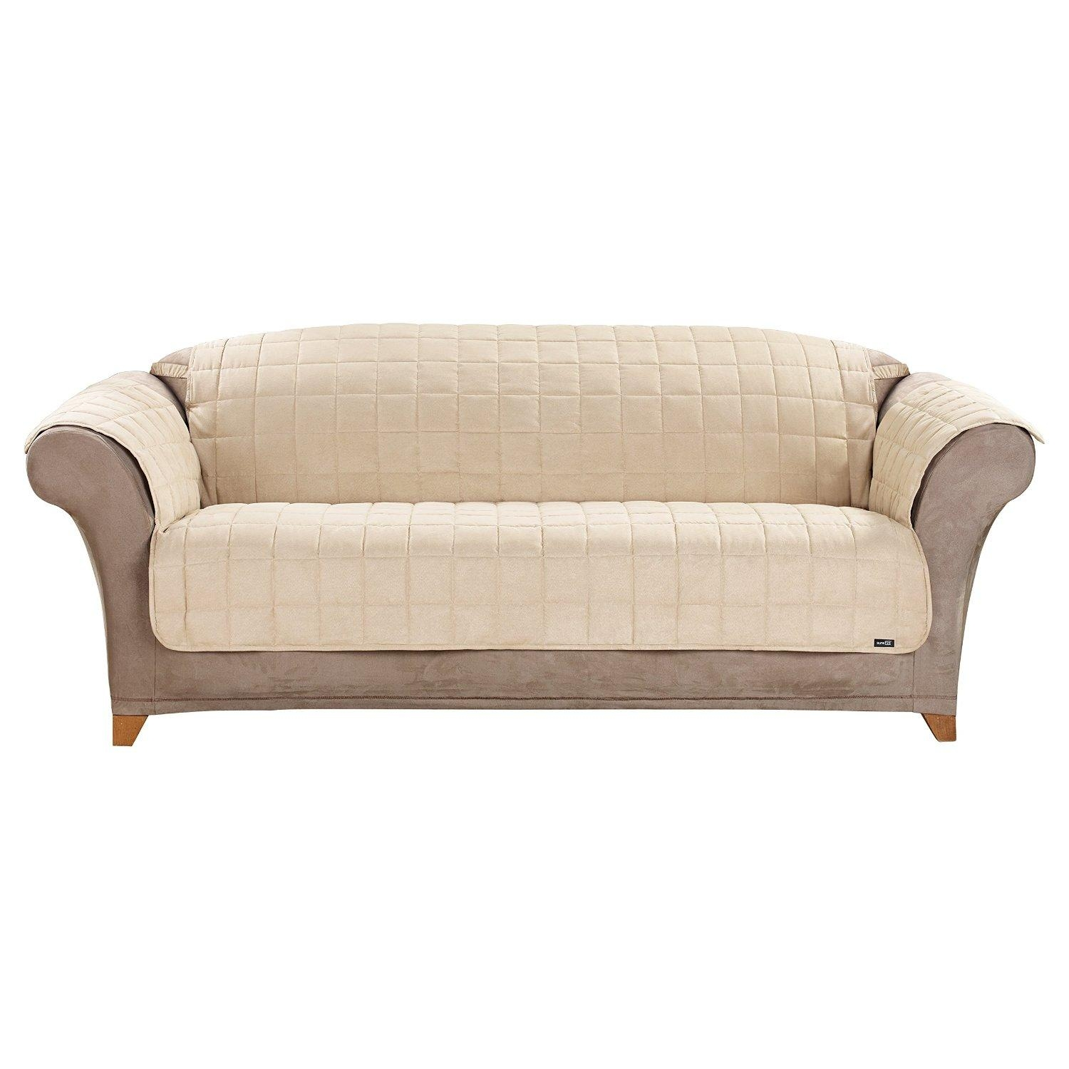 Furniture & Sofa: Stunning Sure Fit Sofa Covers Design For Inside Armless Sofa Slipcovers (View 15 of 20)